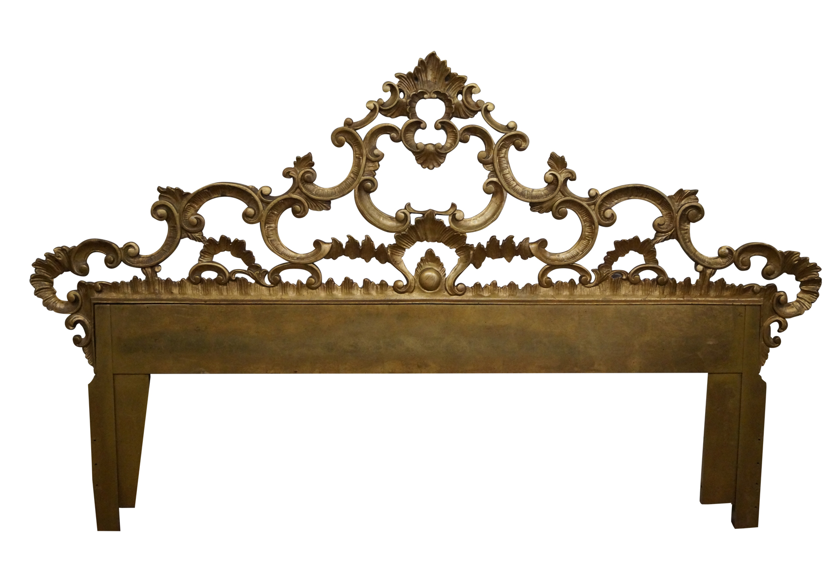 Gilt metal ornate rococo style headboard chairish geotapseo Gallery