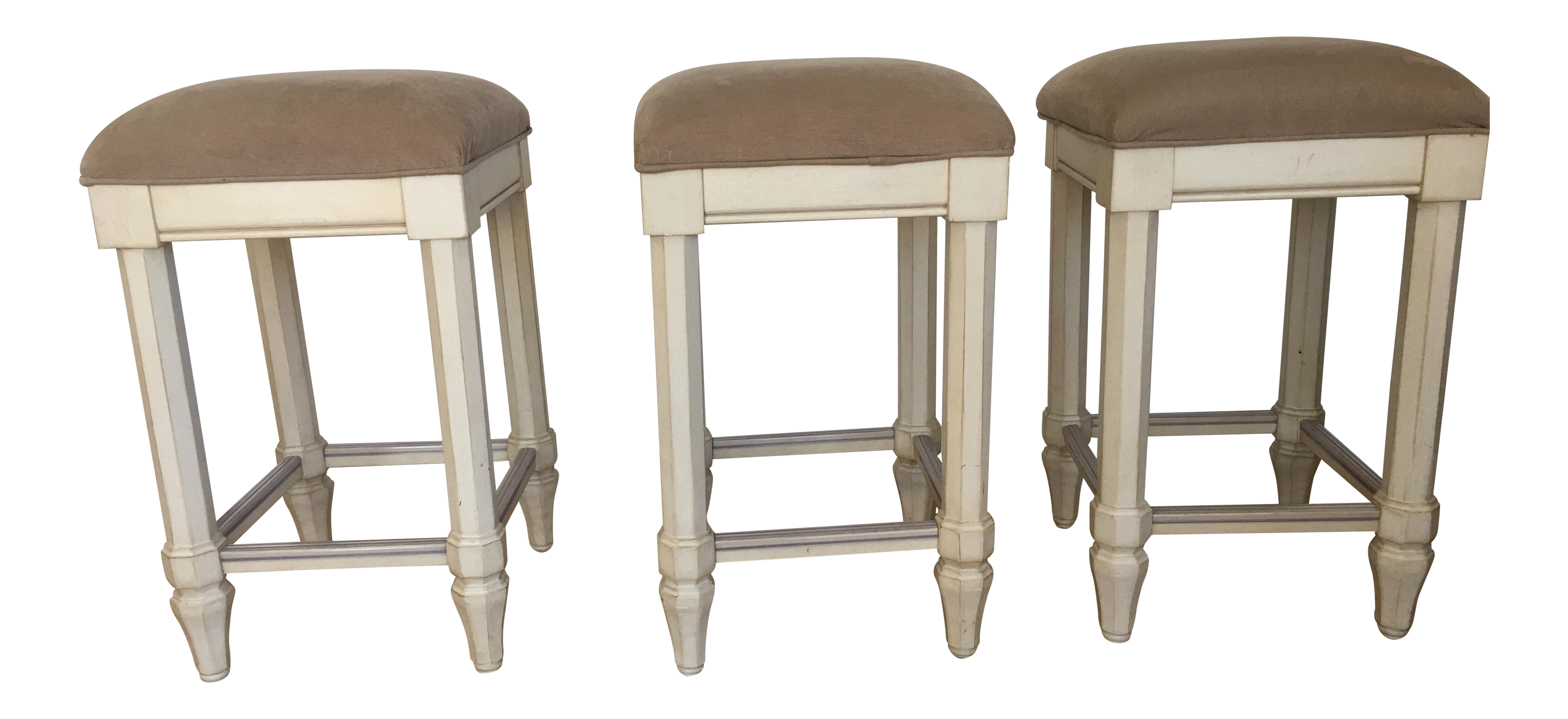 Tan Backless Counter Stools Set Of 3 Chairish