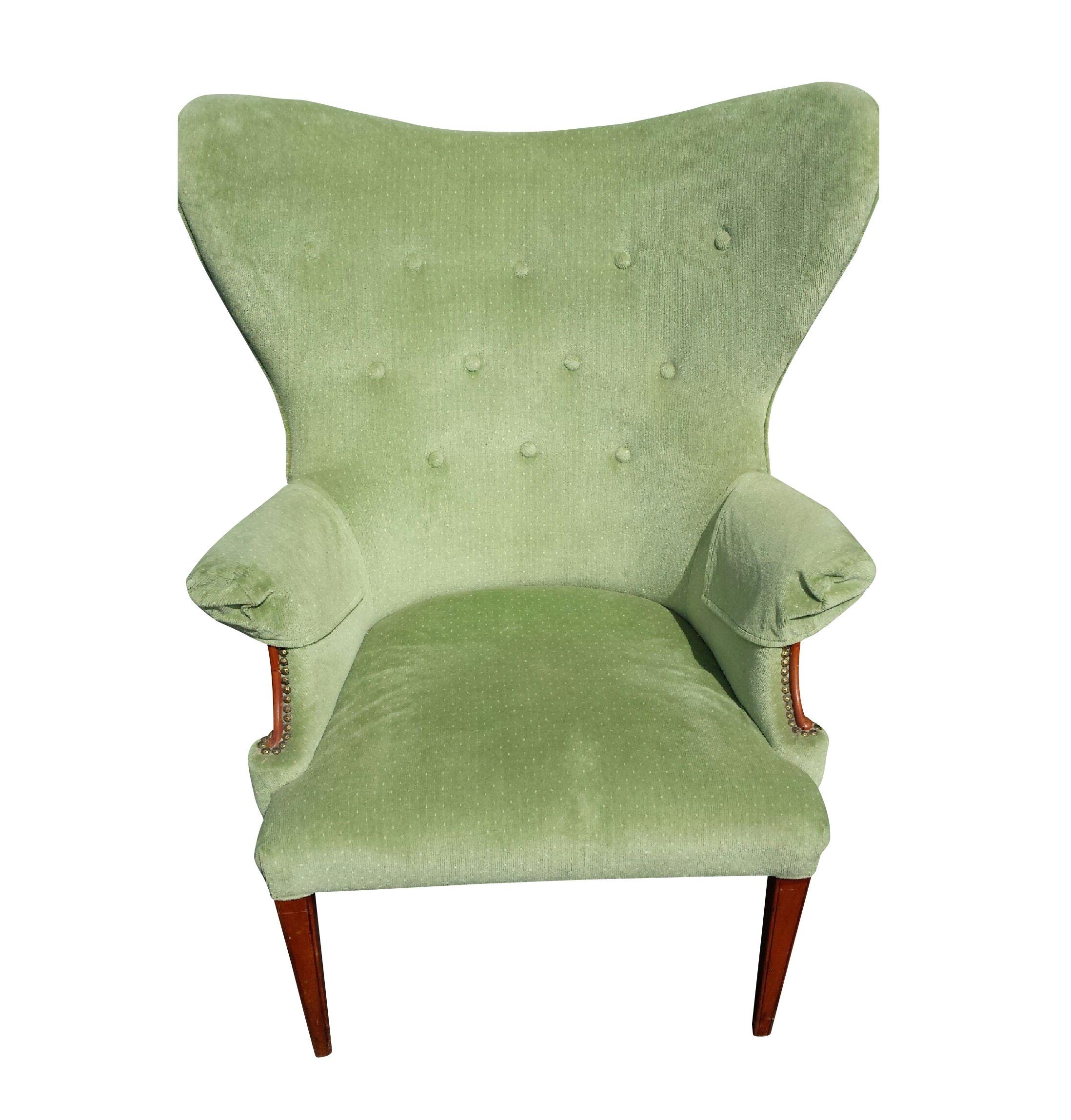 Vintage Butterfly Wingback Chair Chairish