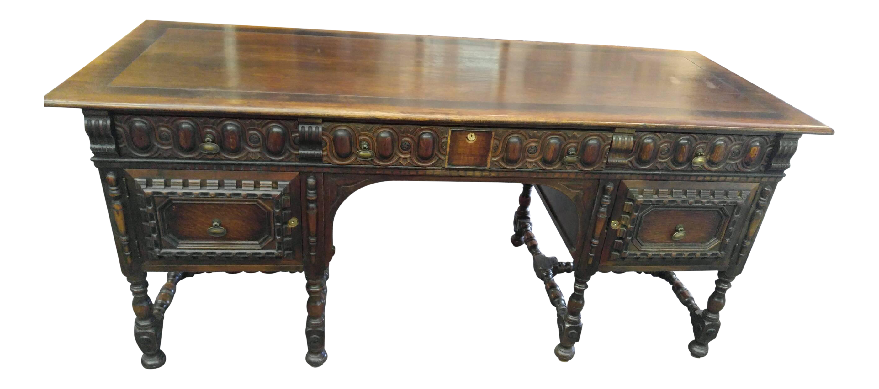 Kittinger Walnut Partner Desk