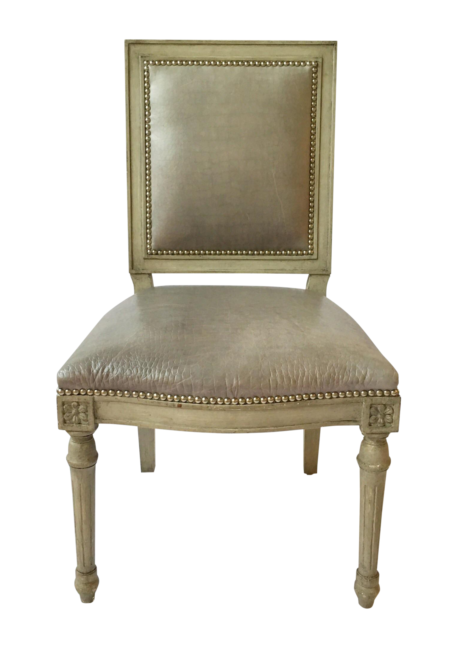 Nail studded dining chairs ave six kingman dining chair for Studded dining room chairs