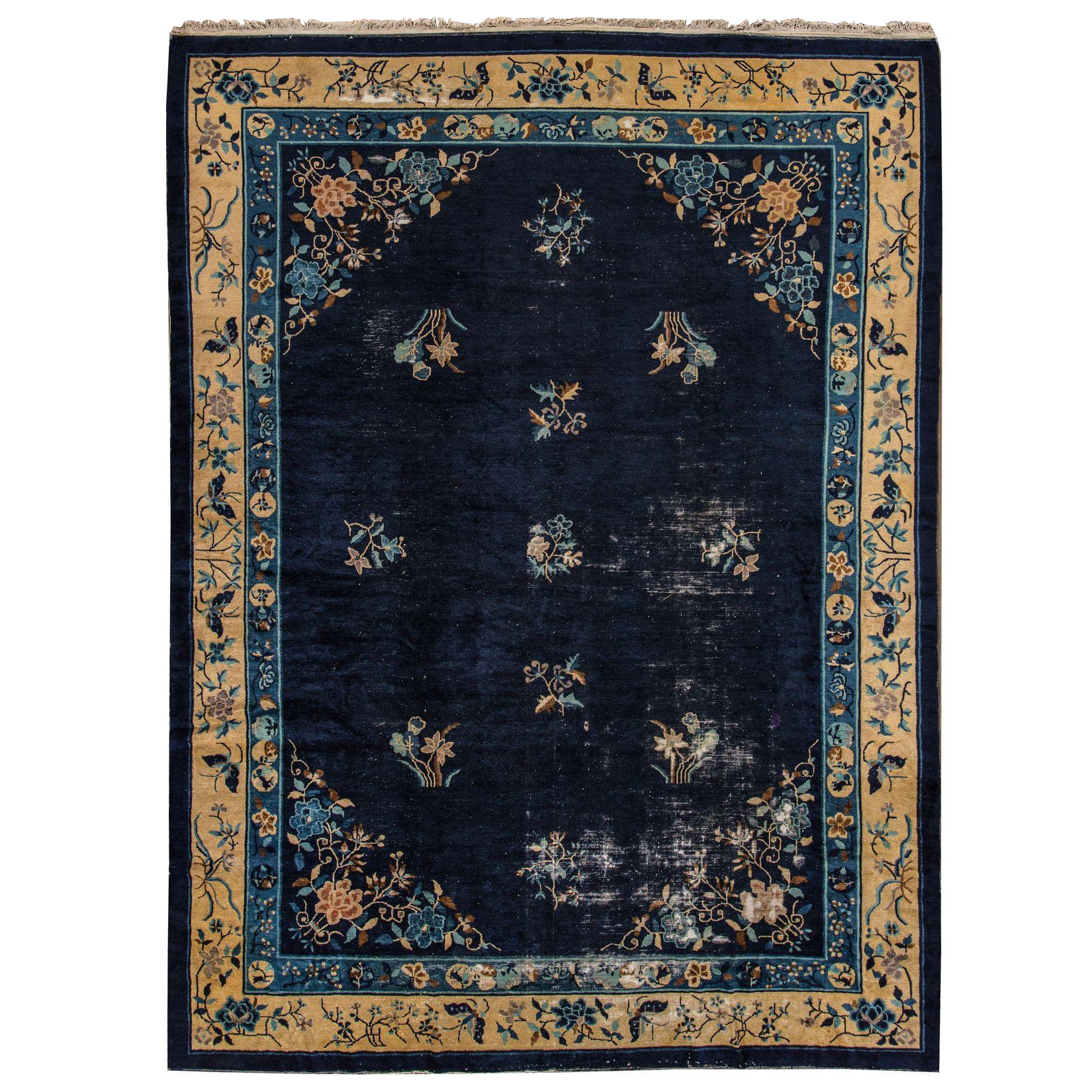 "Chinese Blue Peking Rug - 9'2"" X 11'5"""