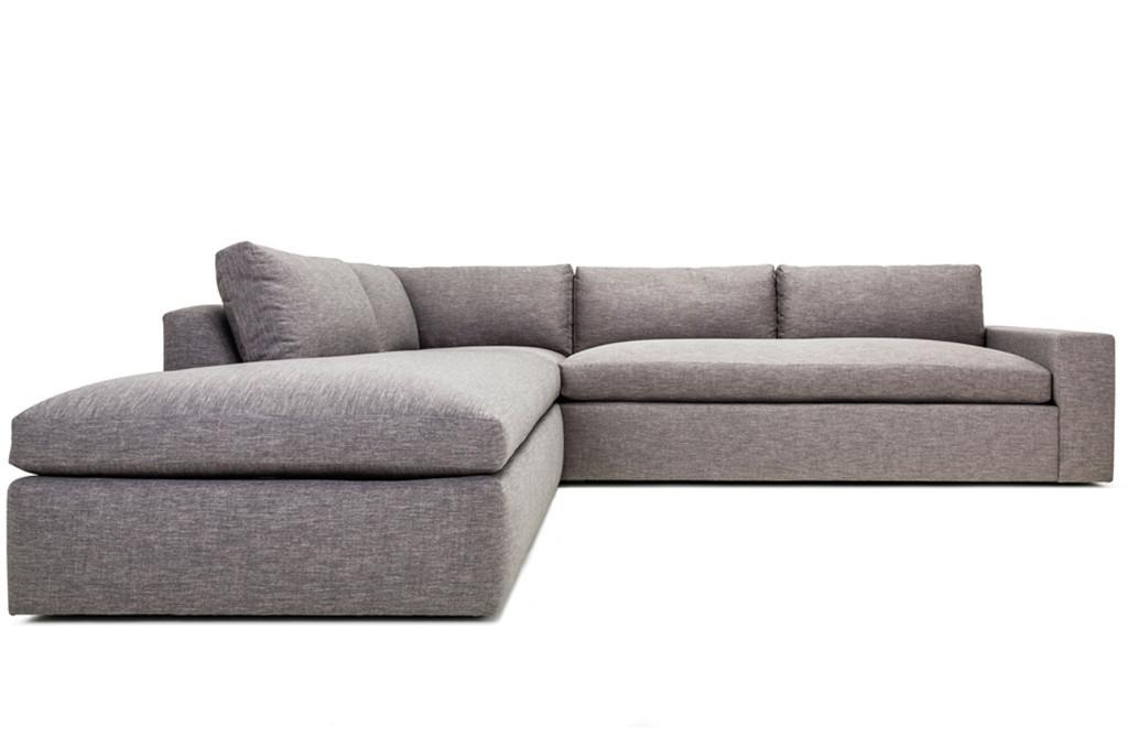 Grey contemporary sectional sofa chairish