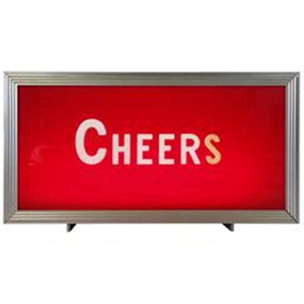 Vintage Cheers Bar Topper Light Sign