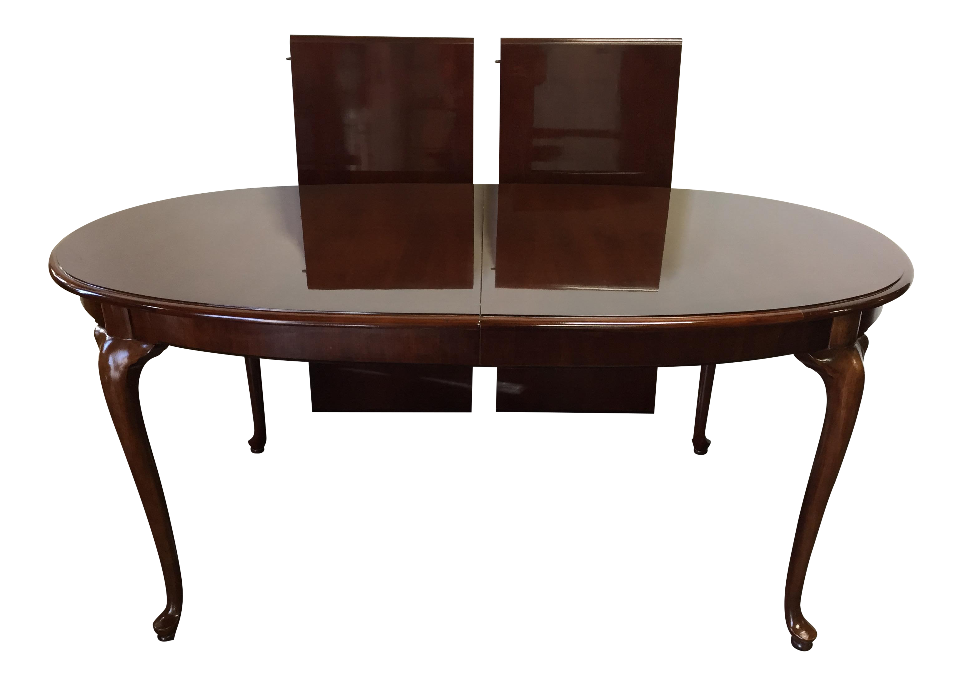 thomasville cherry queen anne dining table chairish. Black Bedroom Furniture Sets. Home Design Ideas