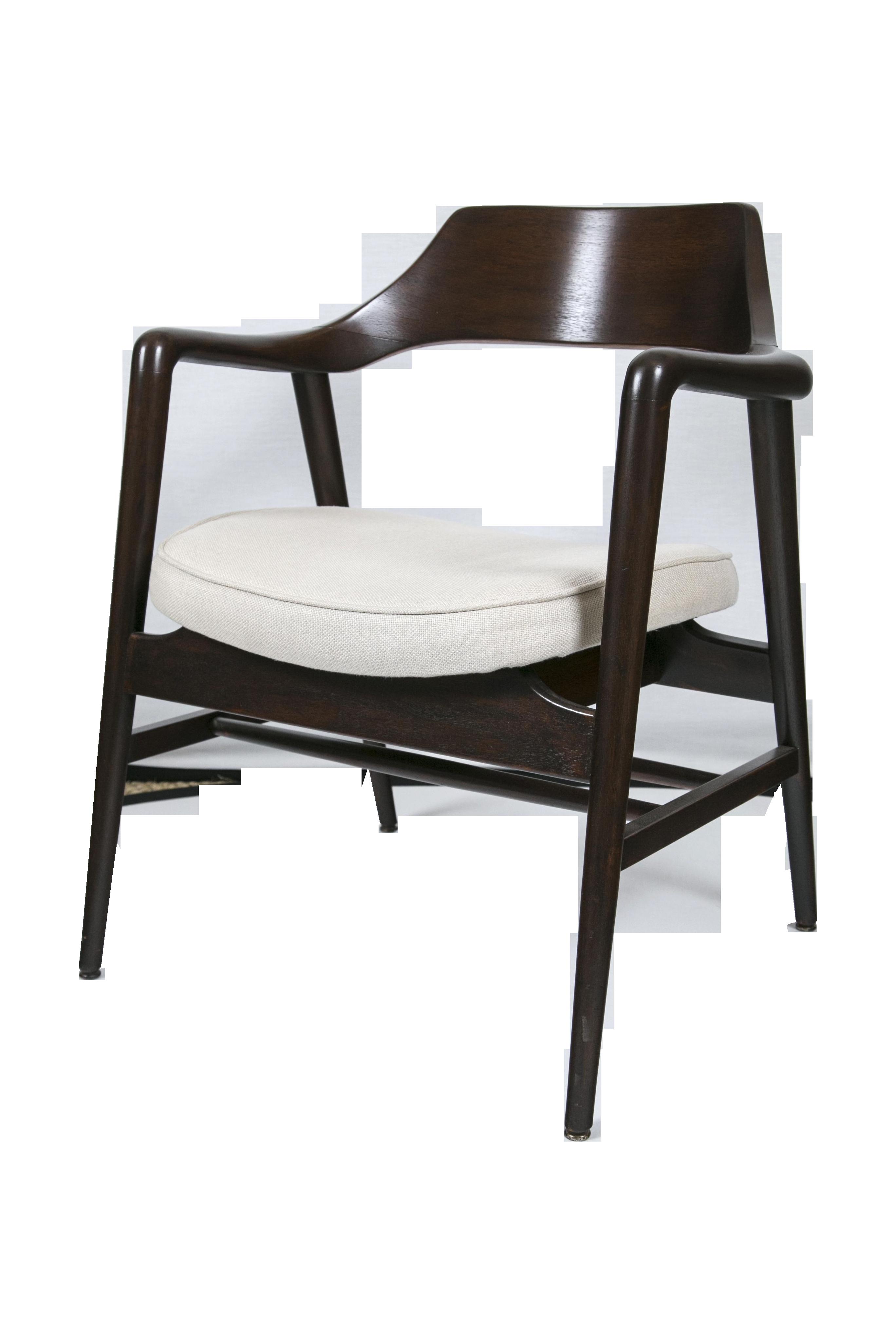 Gunlocke Wood Framed Arm Chair Chairish