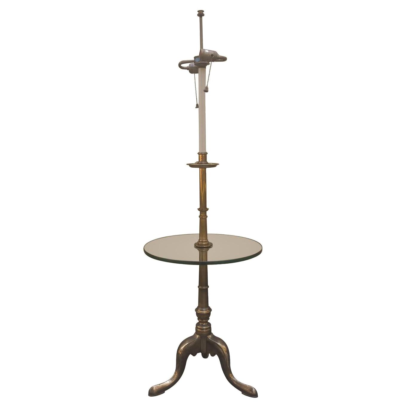 Stiffel brass floor lamp chairish for Wilfred floor lamp brass