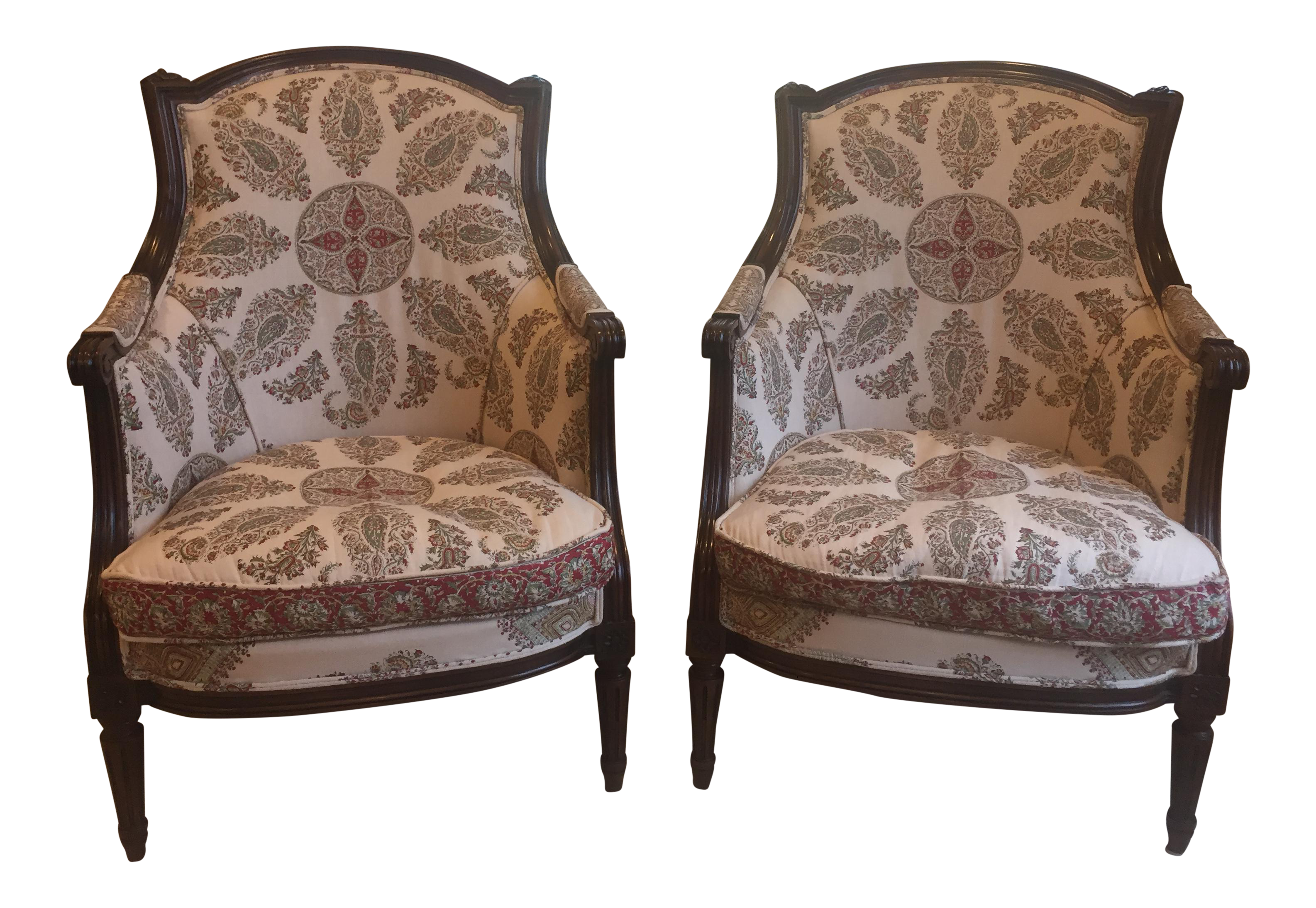 Antique bergere chair - Image Of Antique Bergere Chairs A Pair