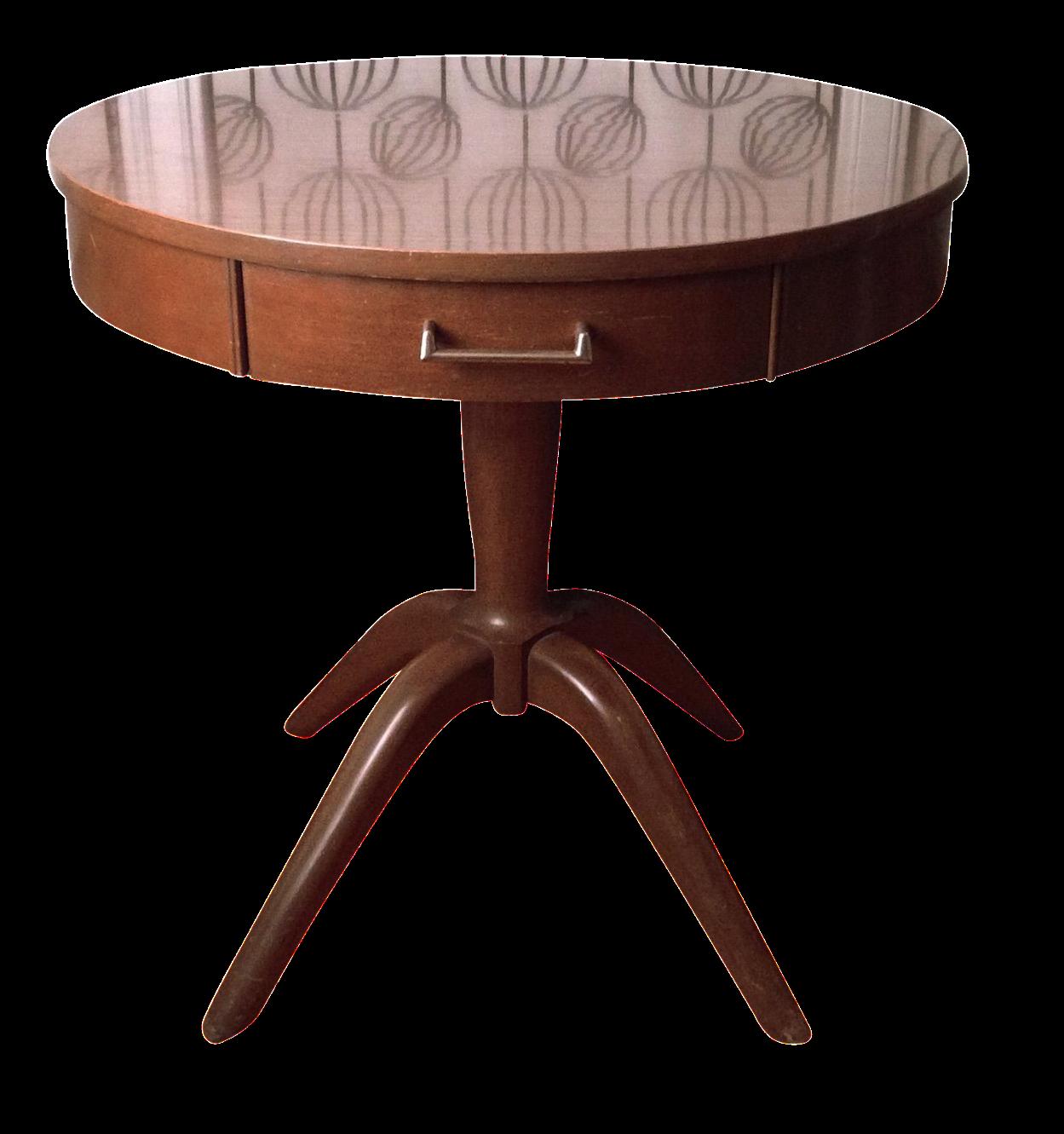 Mersman Round Drum Table | Chairish