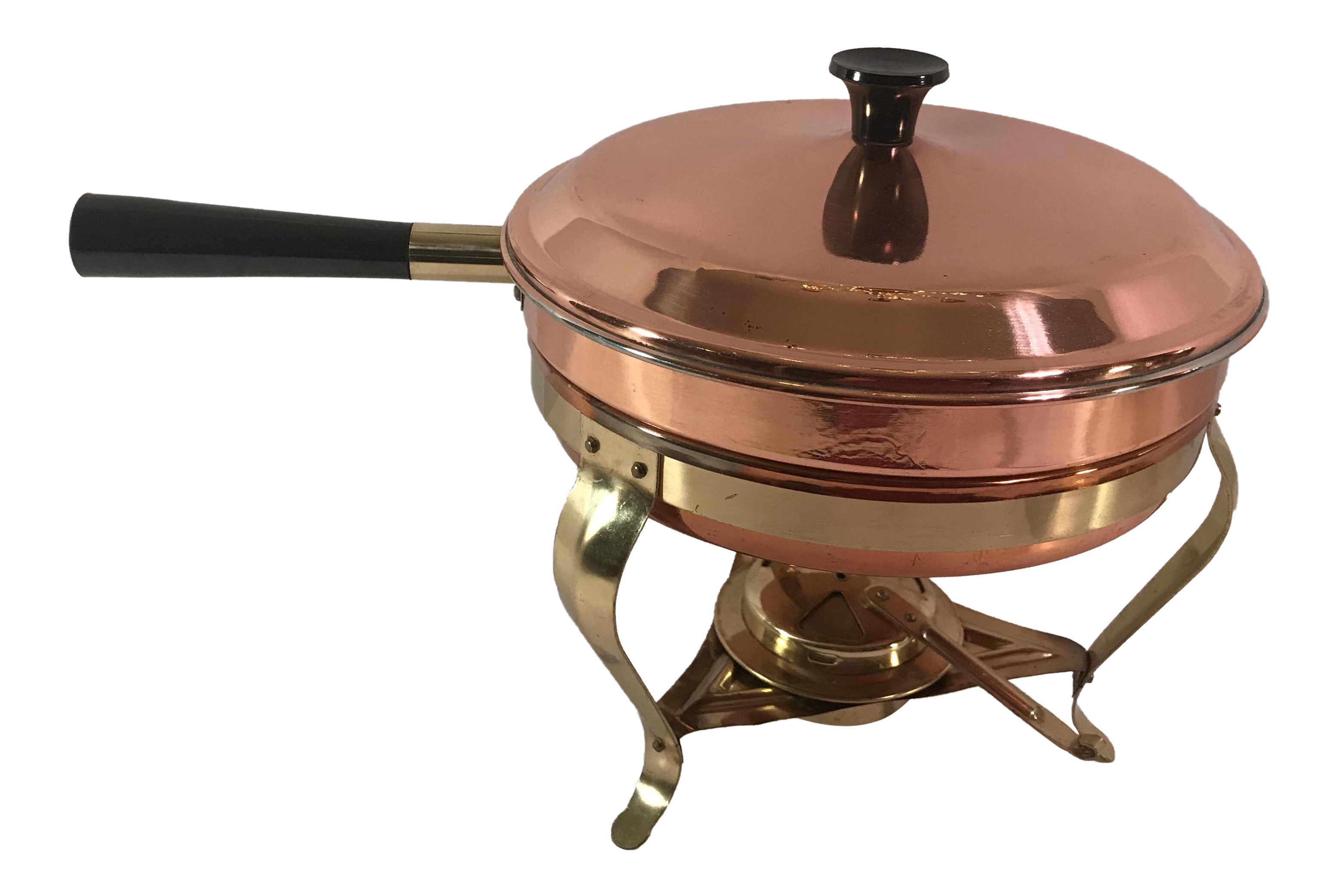Vintage Copper Amp Brass Chafing Dish Chairish