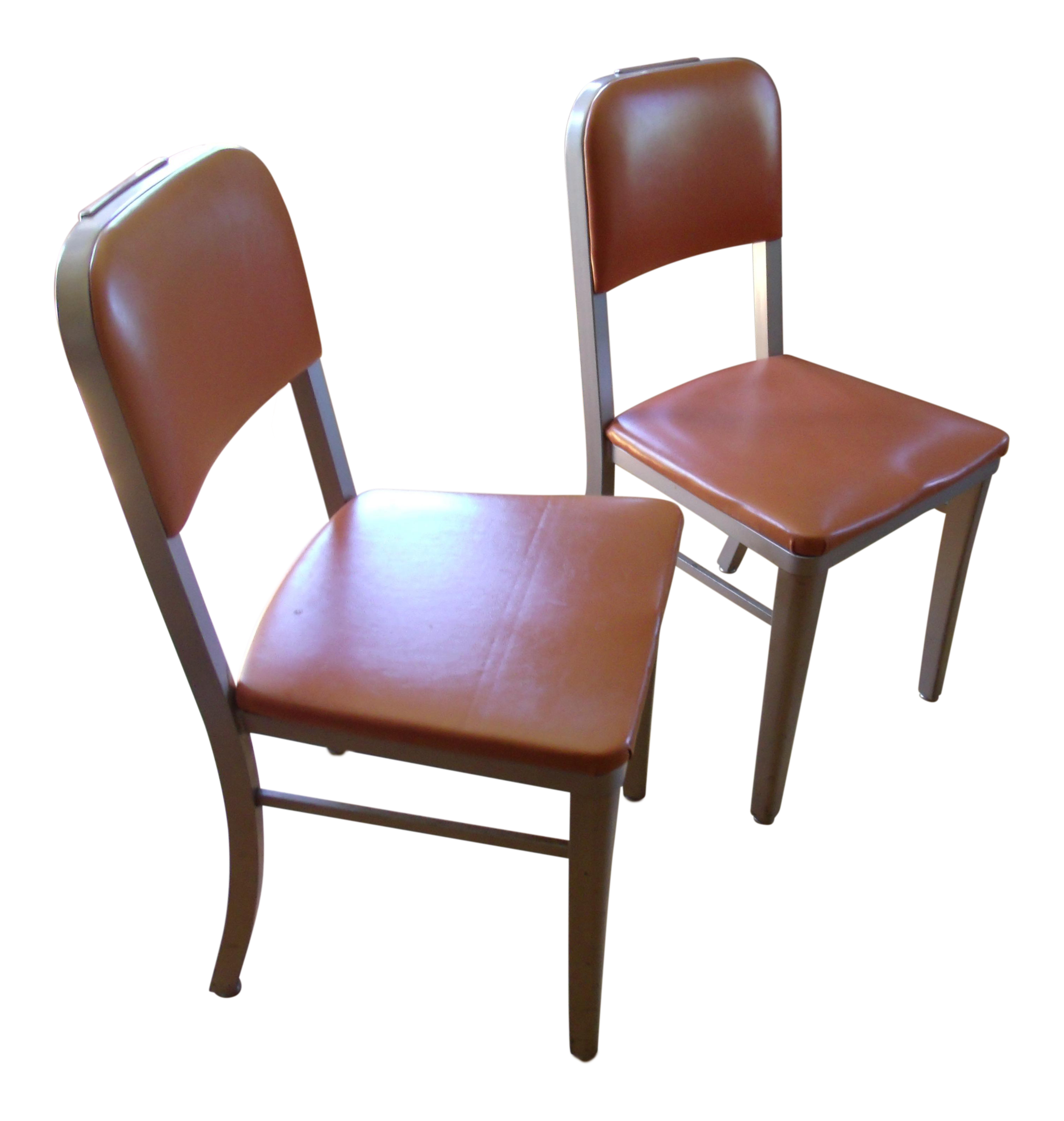 1964 Vintage Steelcase Metal Desk Chairs A Pair Chairish