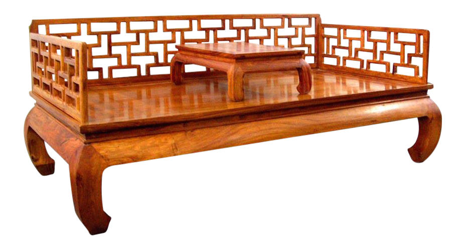 Chinese Ming Style Huali Wood Couch Bed Chairish