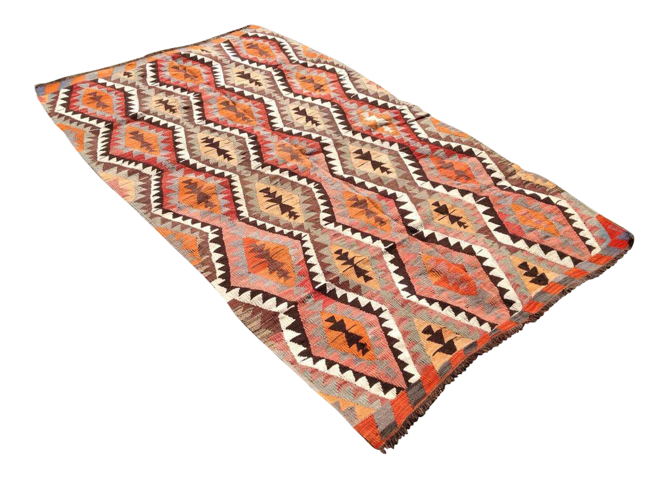 Vintage Turkish Kilim Rug 4 10 Quot X 7 6 Quot Chairish