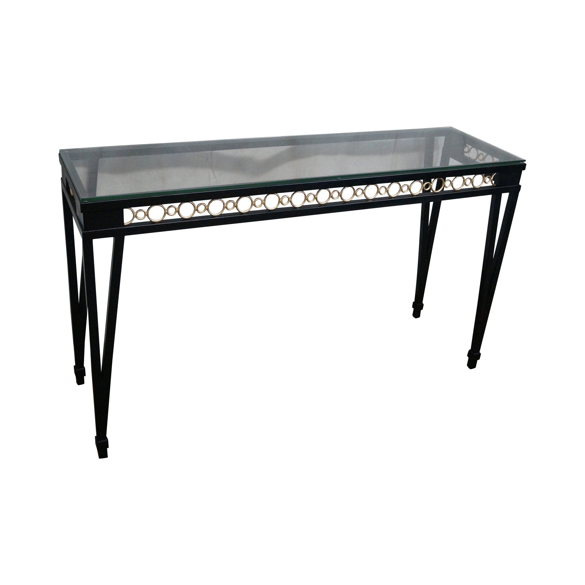 Wildwood accents regency style iron console table chairish for Table 6 wildwood mo