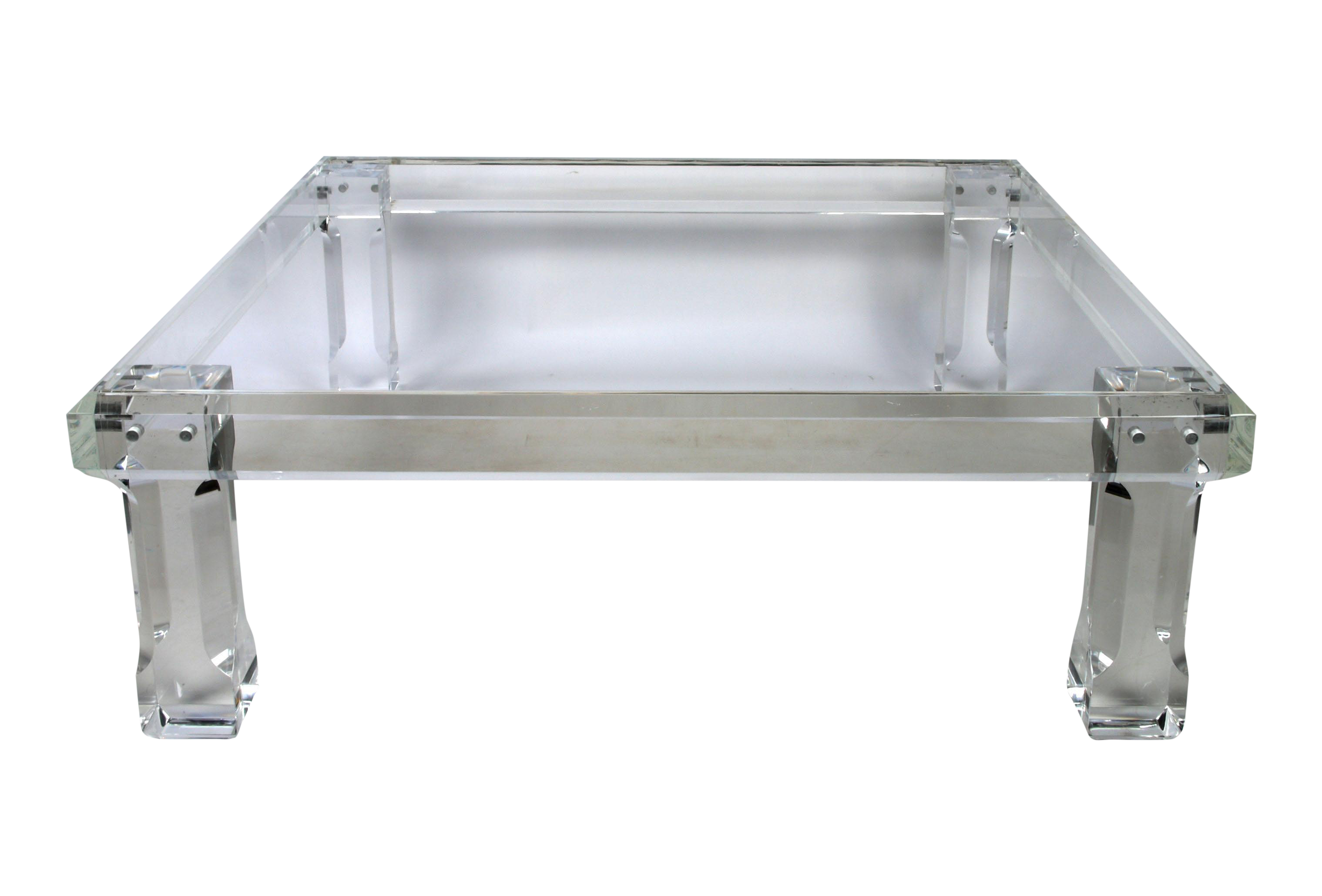 Image Of Vjj Square Lucite Cocktail Table