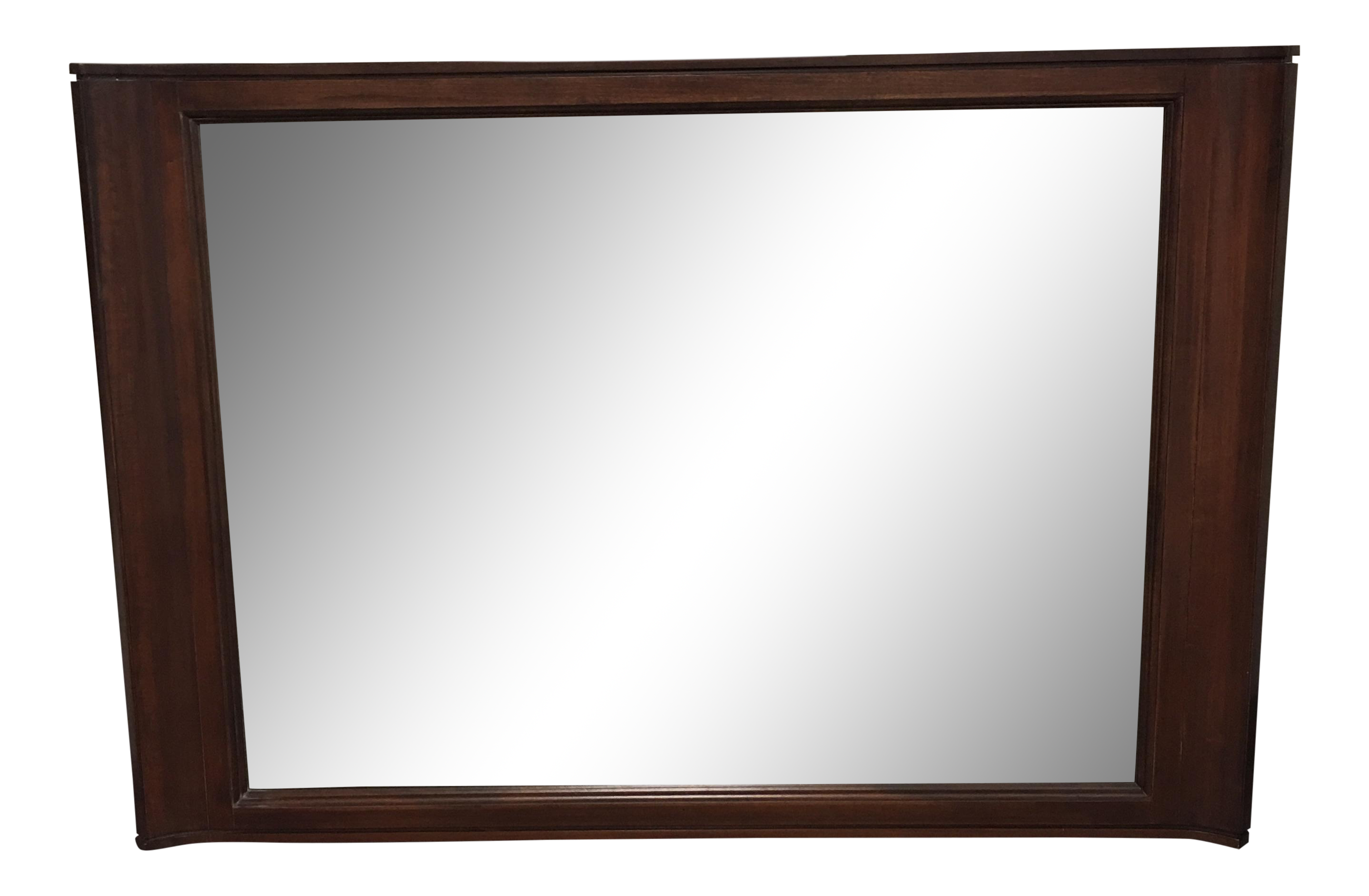 Horizontal Wall Mirror brownstone horizontal wood framed wall mirror | chairish