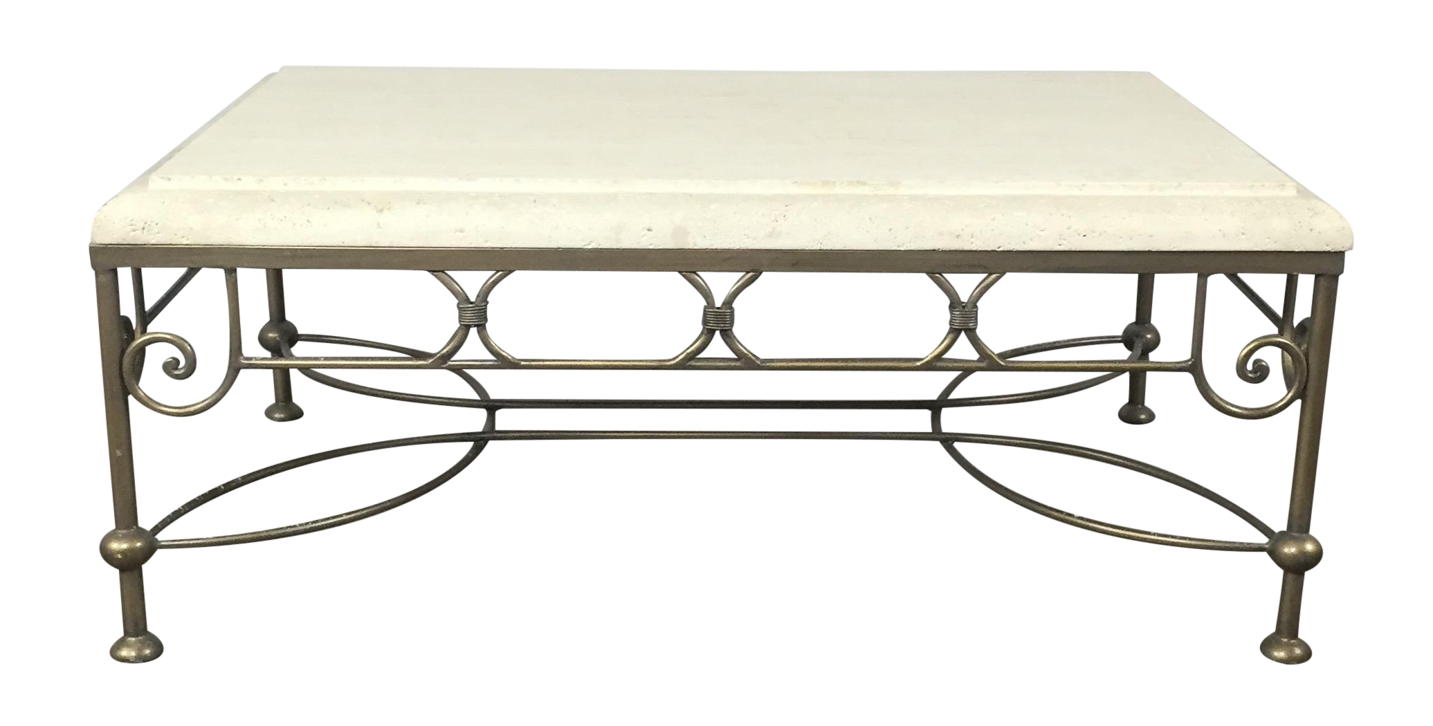 travertine coffee table by kreiss chairish