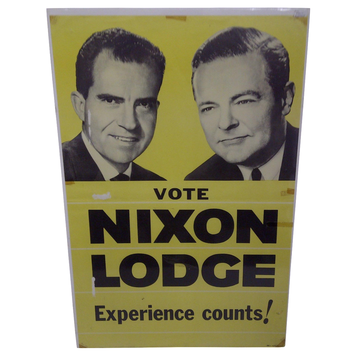 Vintage Nixon Lodge Presidential Campaign Poster Chairish