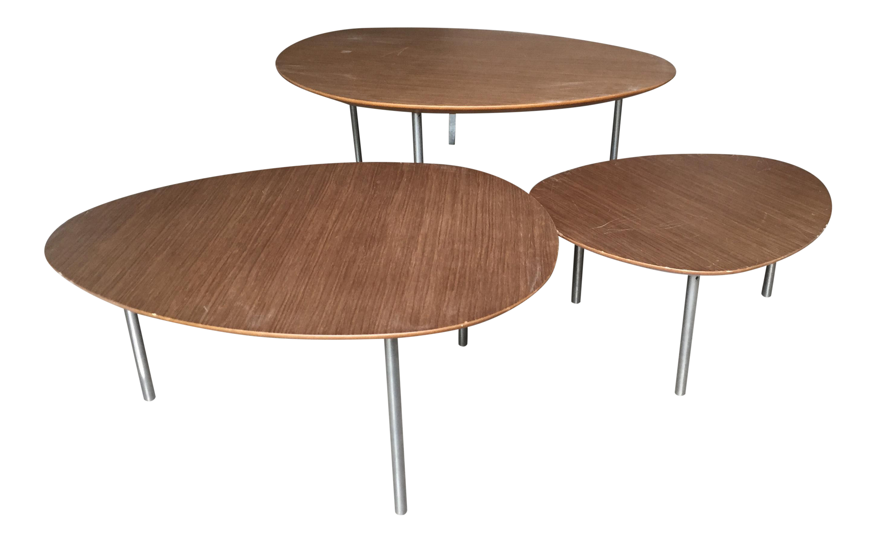 Chairs design within reach - Dwr Stua Eclipse Walnut Nesting Tables Set Of 3