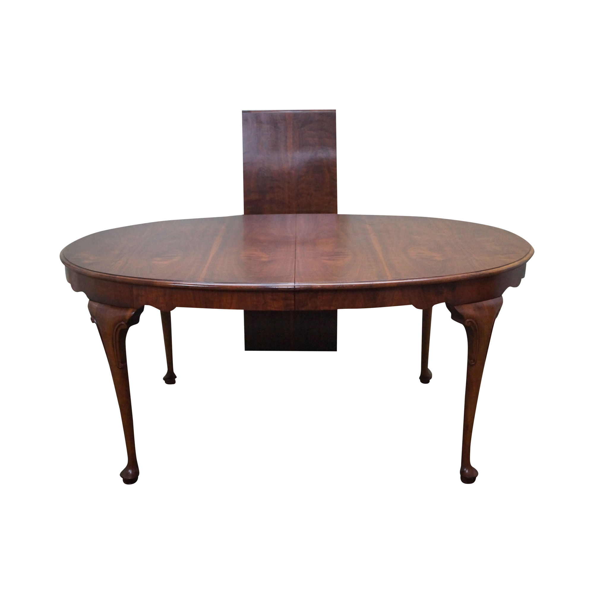 baker milling road walnut queen anne dining table chairish. Black Bedroom Furniture Sets. Home Design Ideas