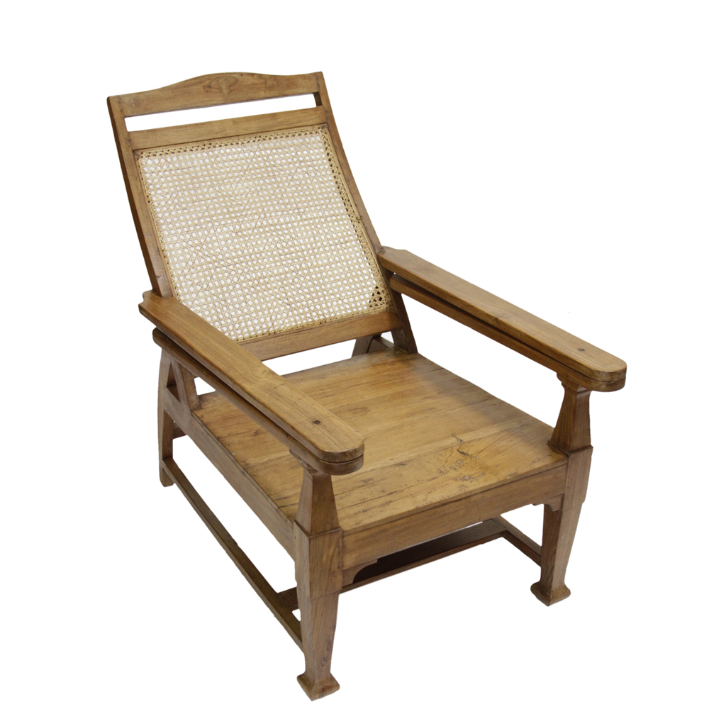 Teak plantation chair - Image Of Southern Indian Plantation Chair