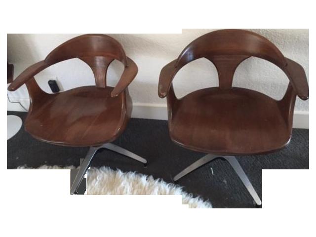 4 Vintage Heywood Wakefield Chairs Set Chairish