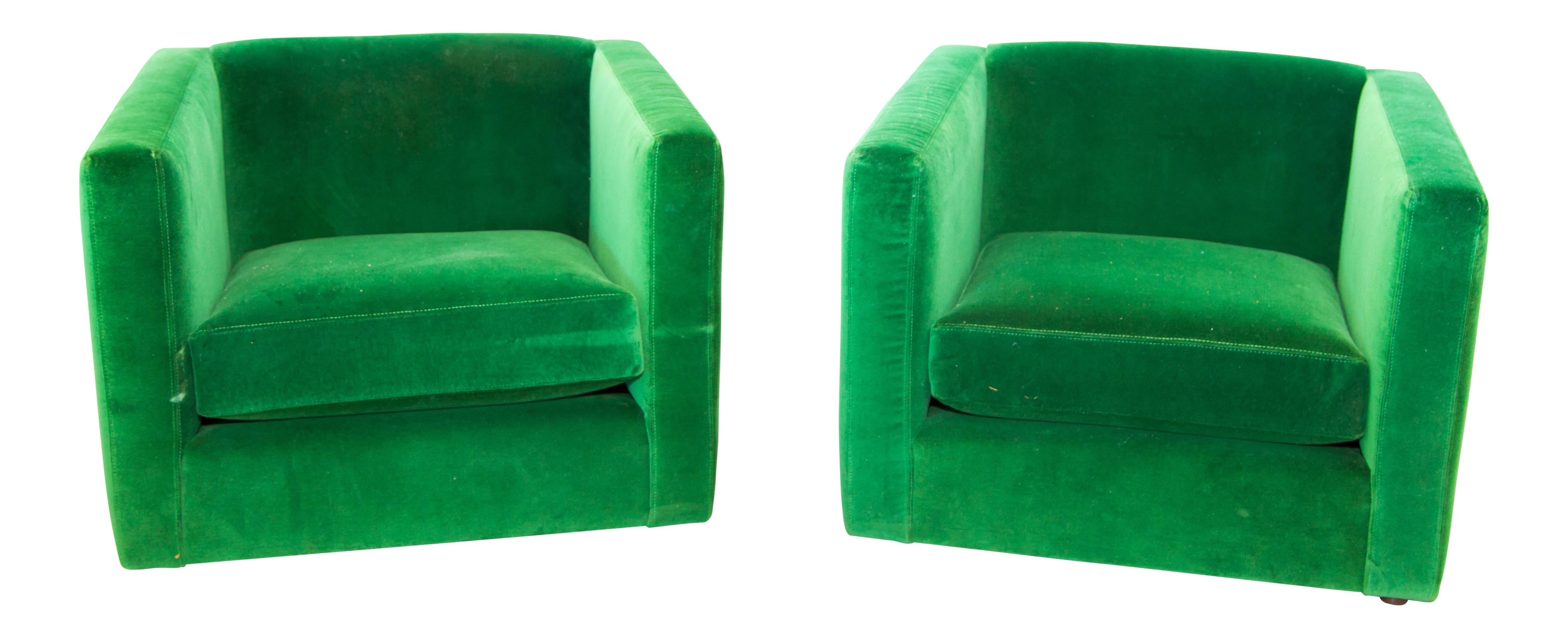 Mid Century Emerald Green Side Chairs A Pair Chairish