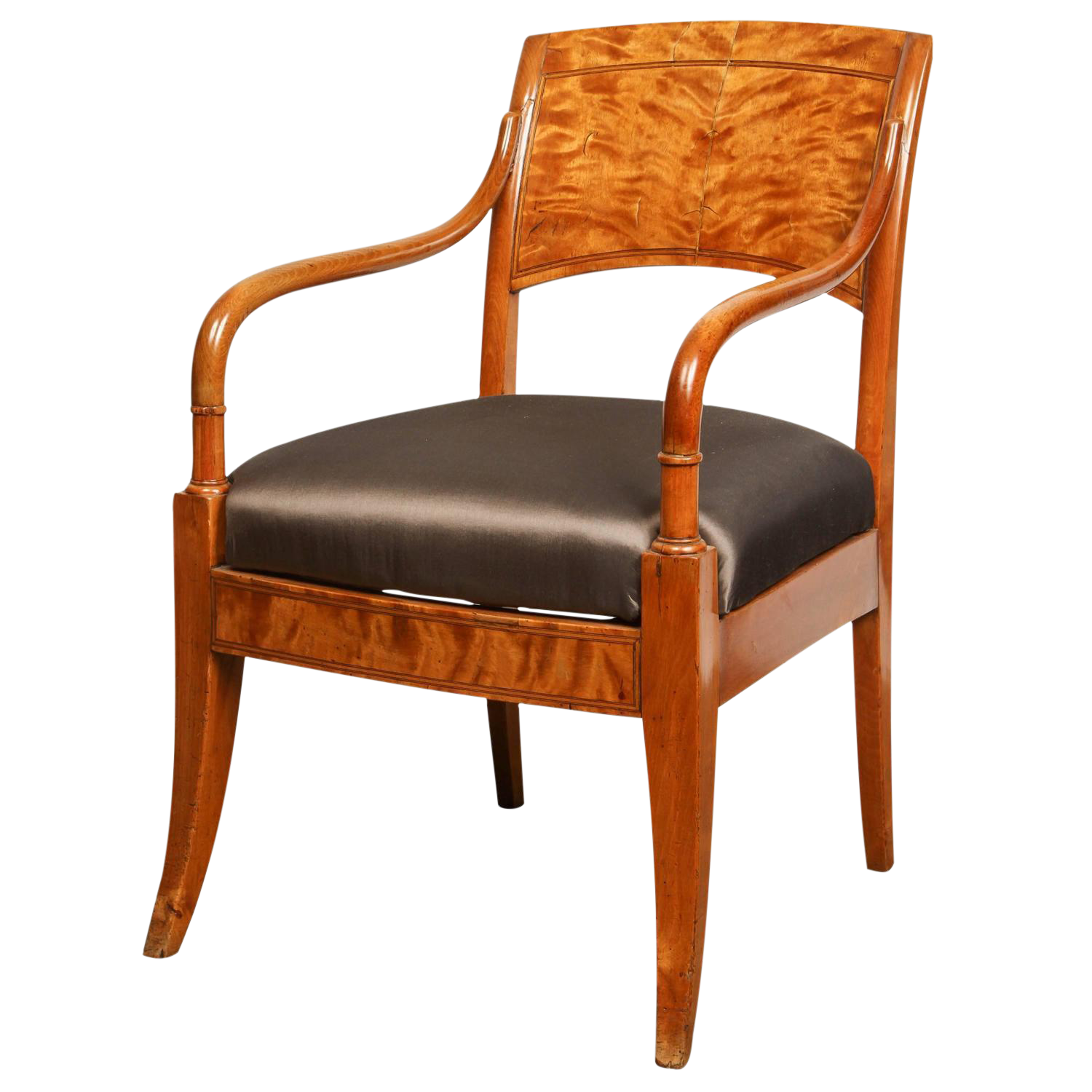 Lovely Danish Biedermeier Arm Chair | DECASO