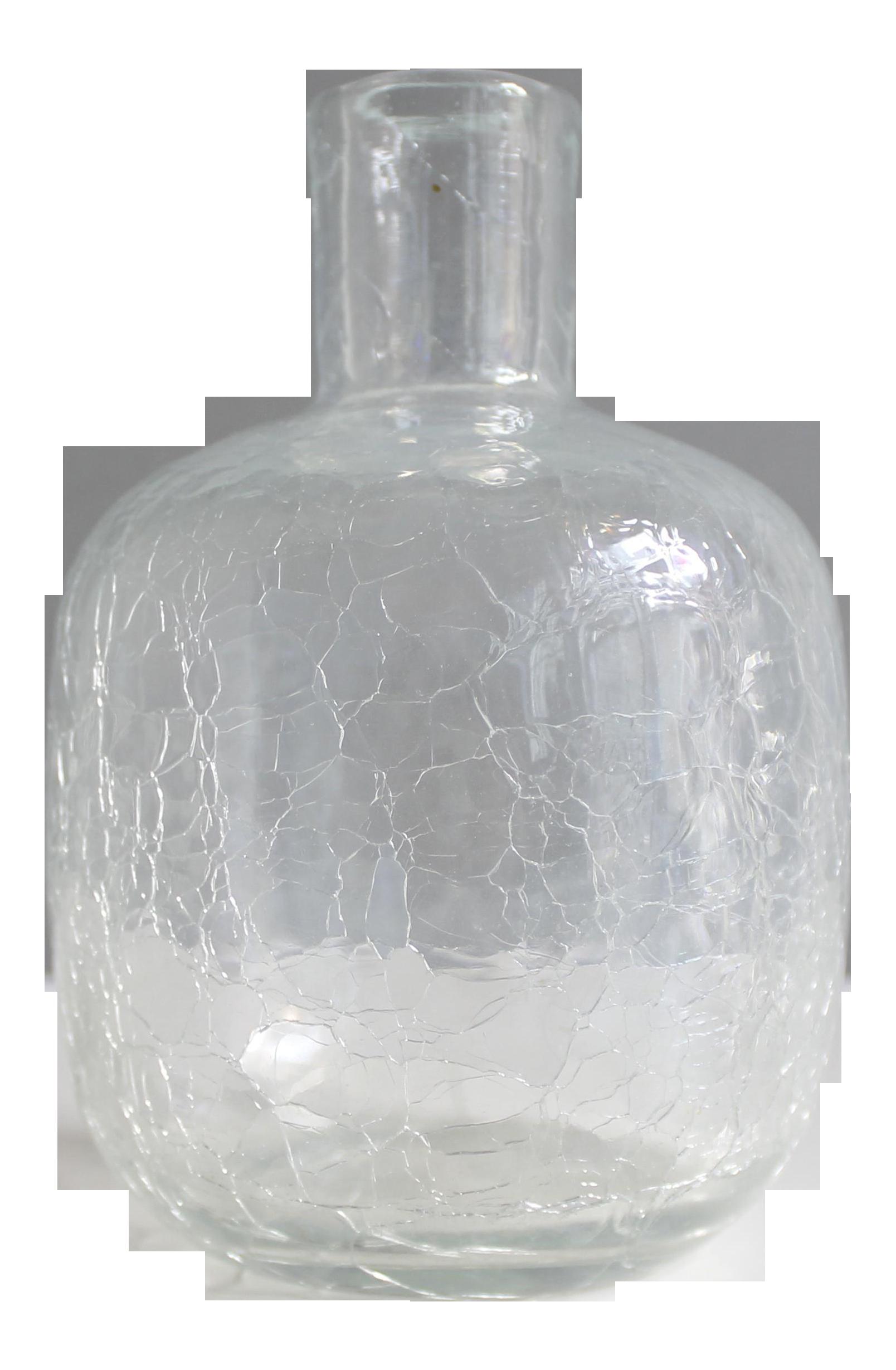 Vintage Blenko Crackle Glass Vase Joel Myers #6462 Mid Century Modern |  Chairish