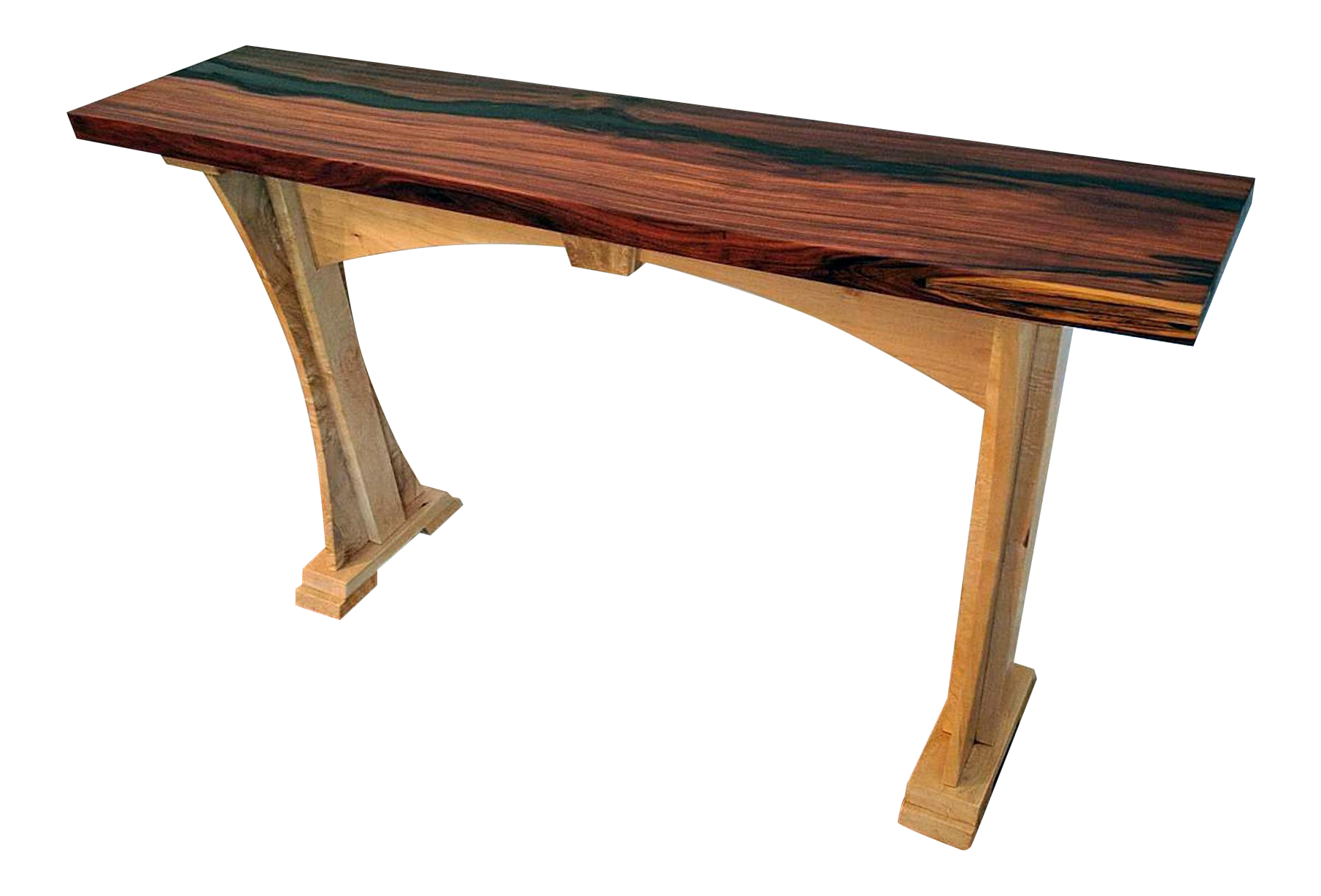 Live edge cherry maple console table chairish geotapseo Image collections
