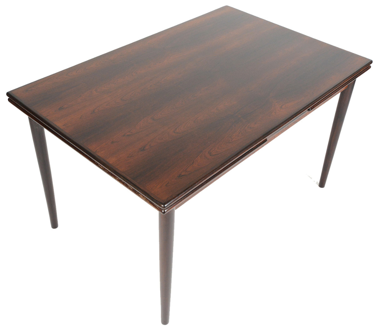 Danish Modern Draw Leaf Rosewood Dining Table