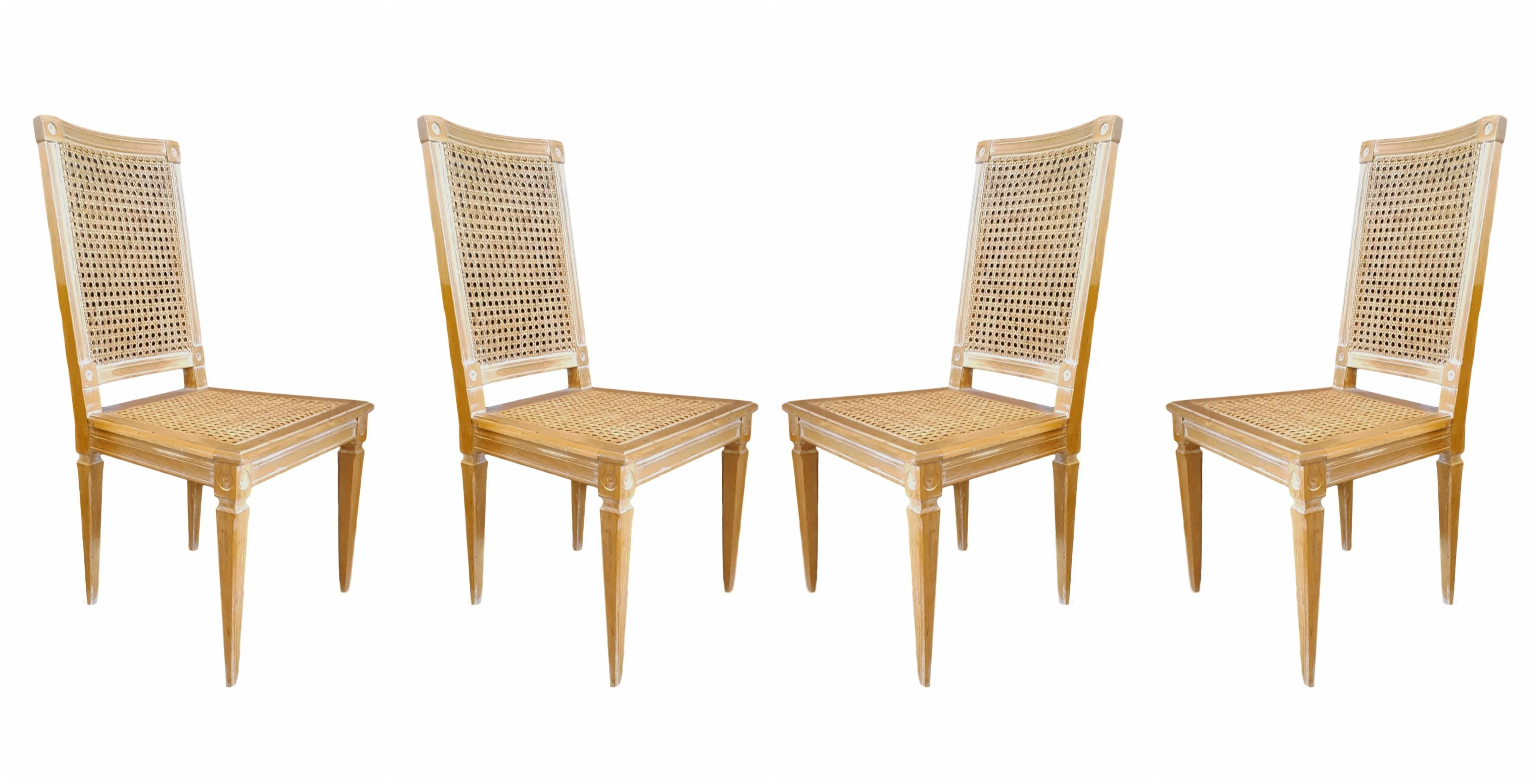 distressed dining chairs set of 4 chairish