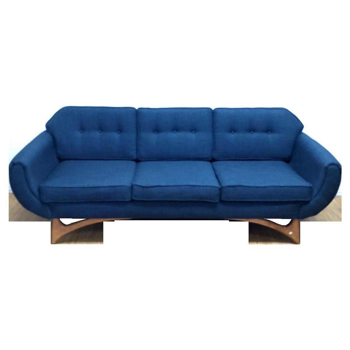 custom mid century style sofa chairish. Black Bedroom Furniture Sets. Home Design Ideas