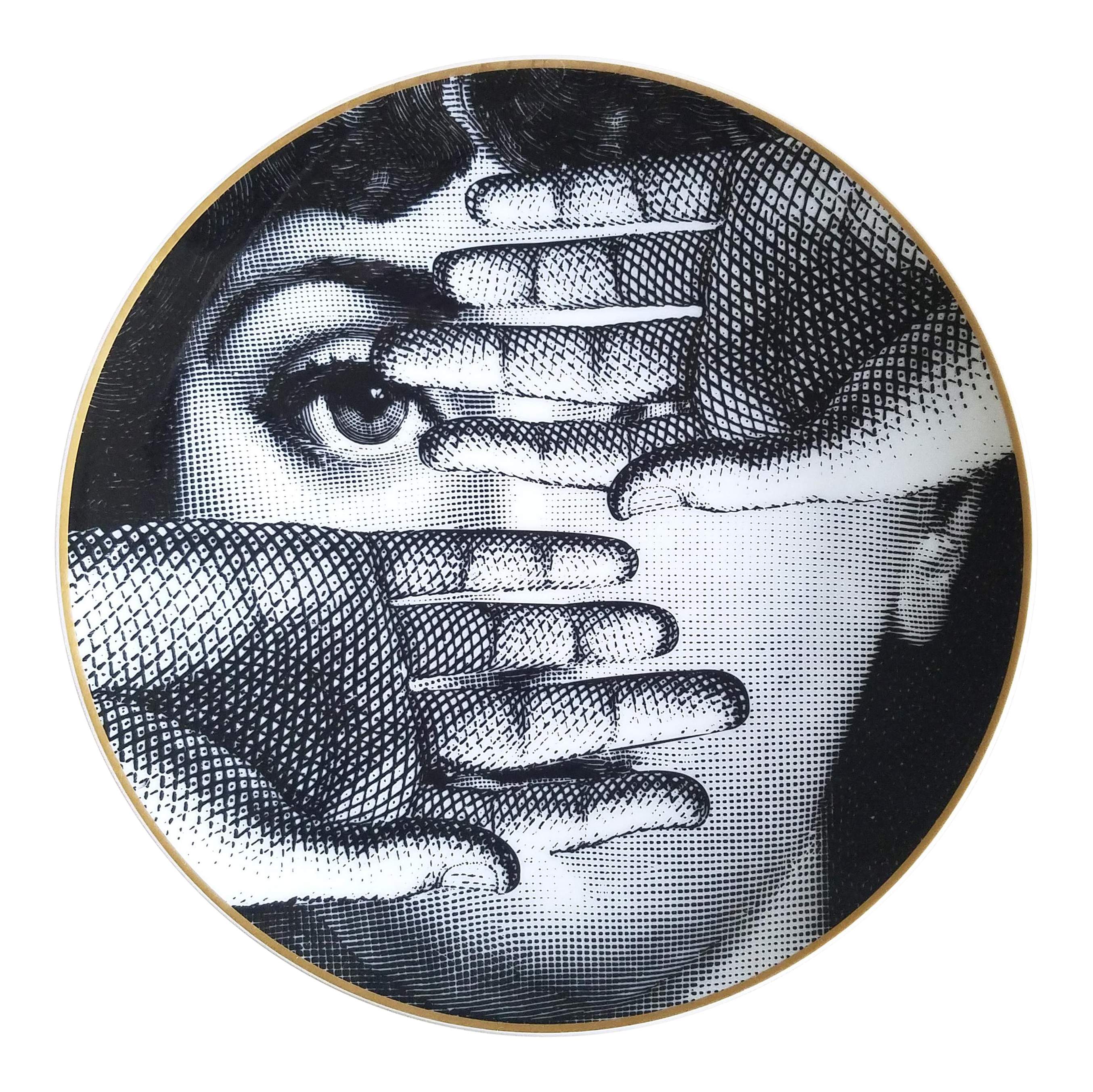 Vintage Fornasetti Porcelain Plate for Rosenthal | Chairish