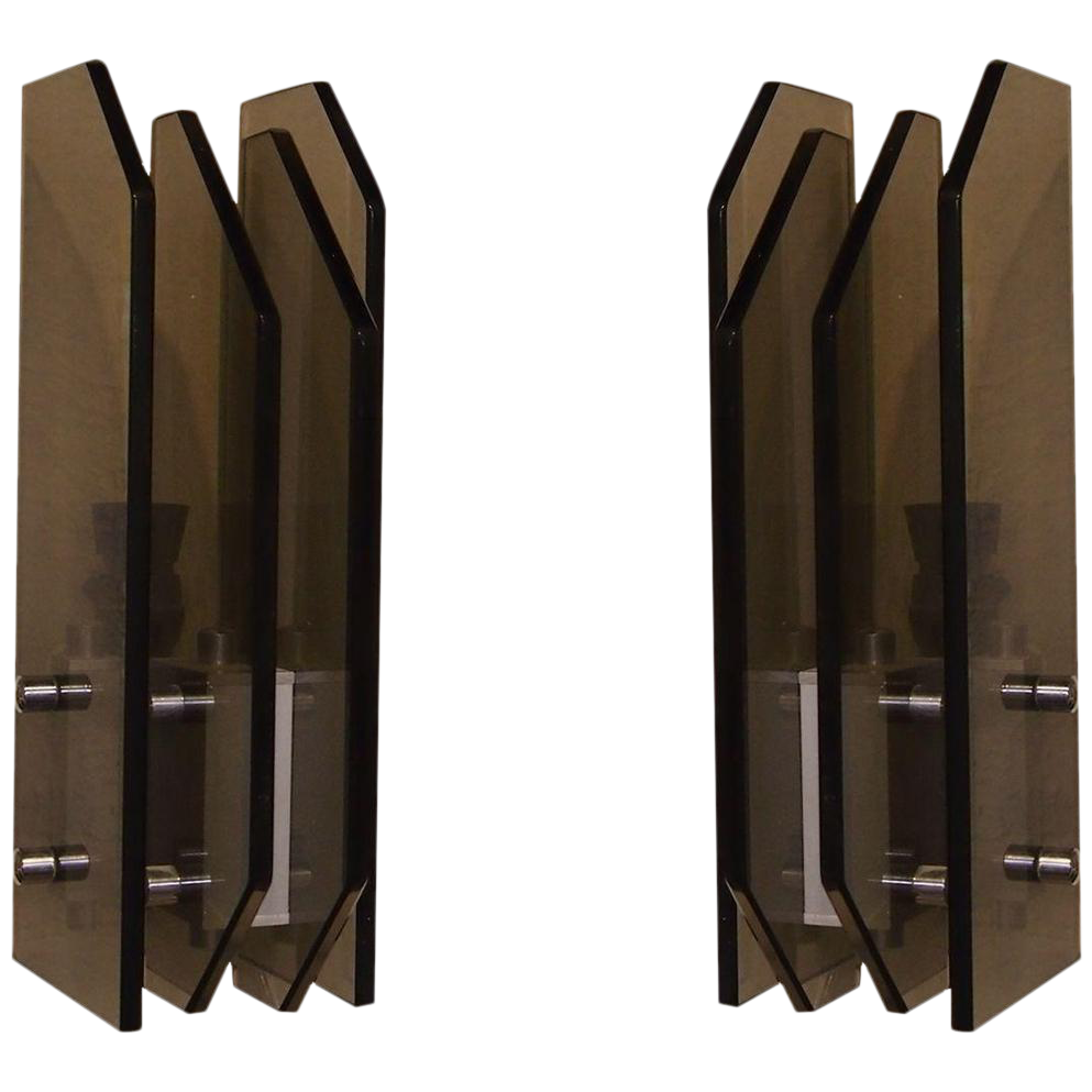 Modern Wall Sconces Italian : Fontana Arte Style Italian Modern Wall Sconces - Pair Chairish