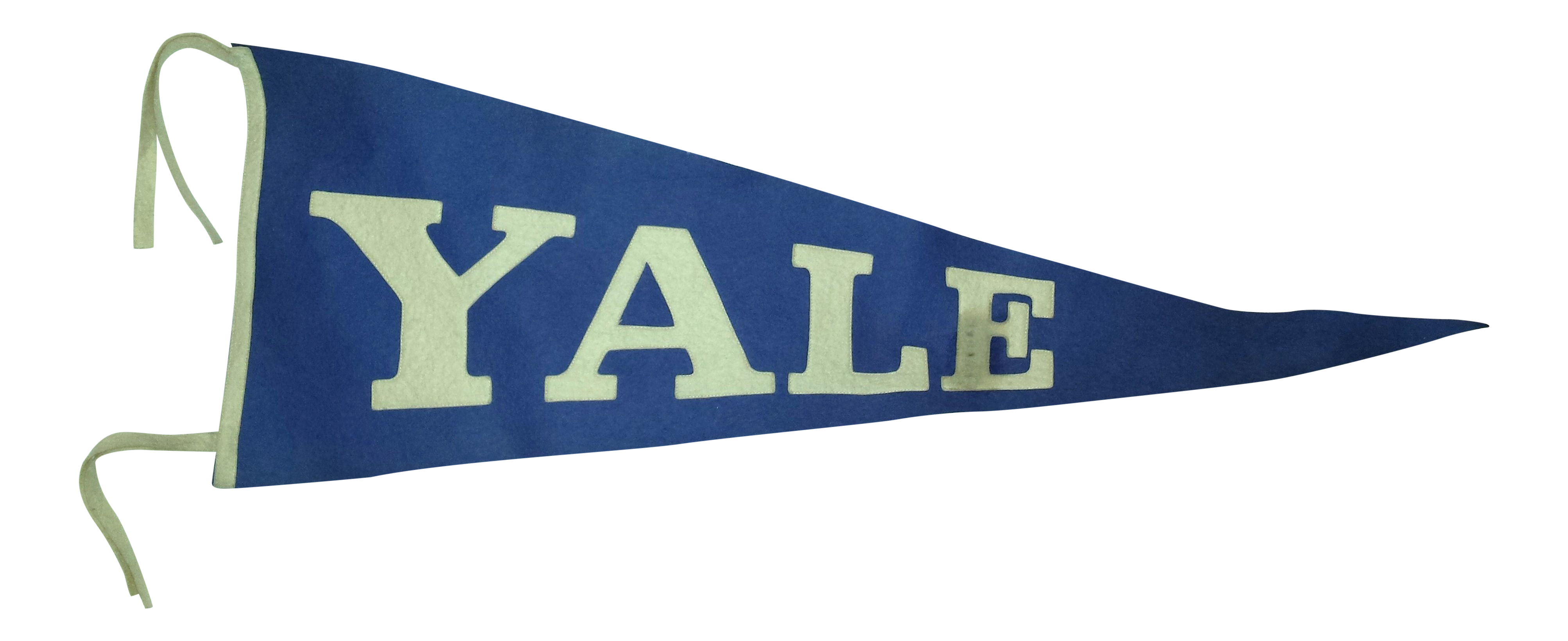 1920s Yale Collegiate Pennant Chairish