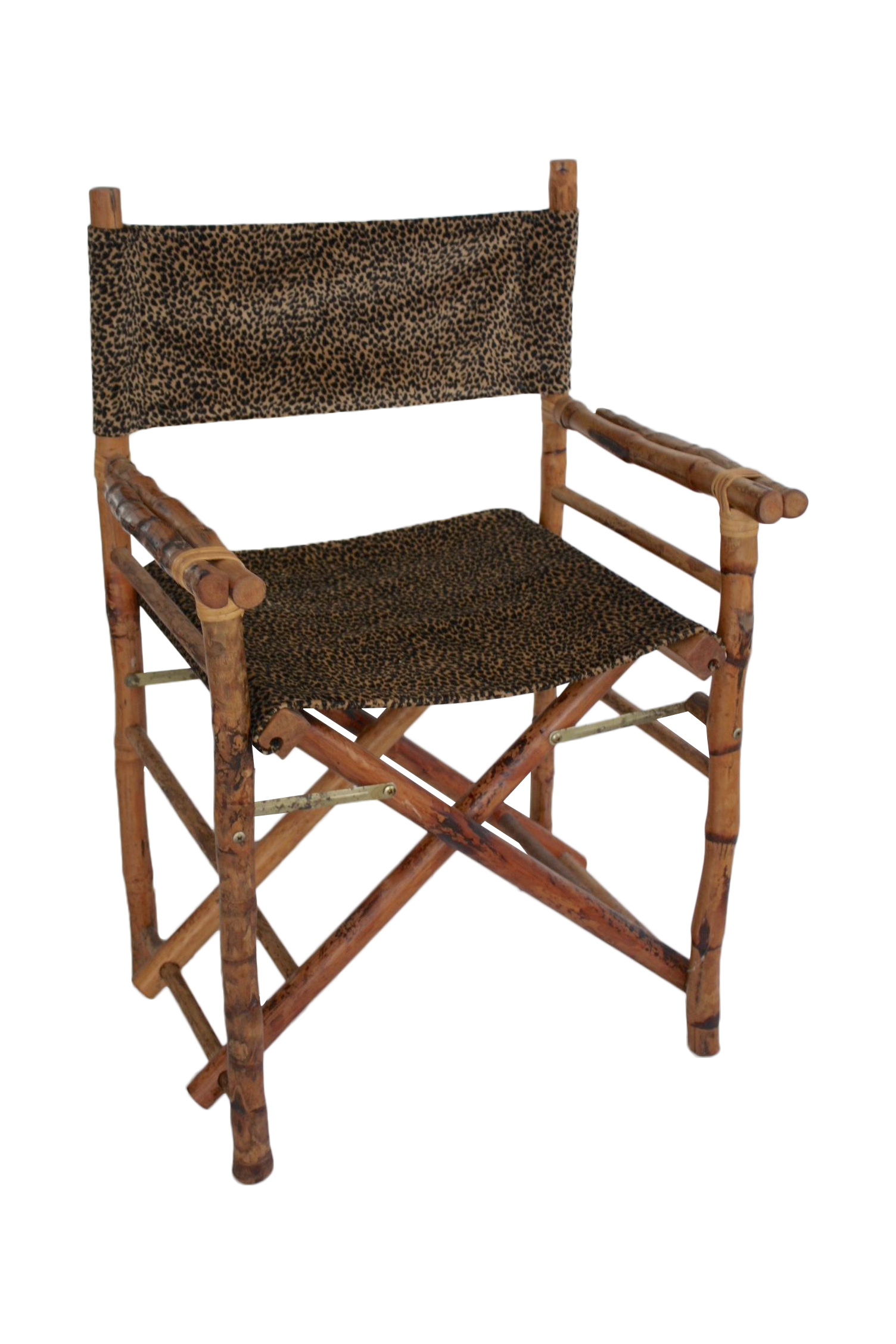 Leopard Print & Faux Bamboo Director s Chair