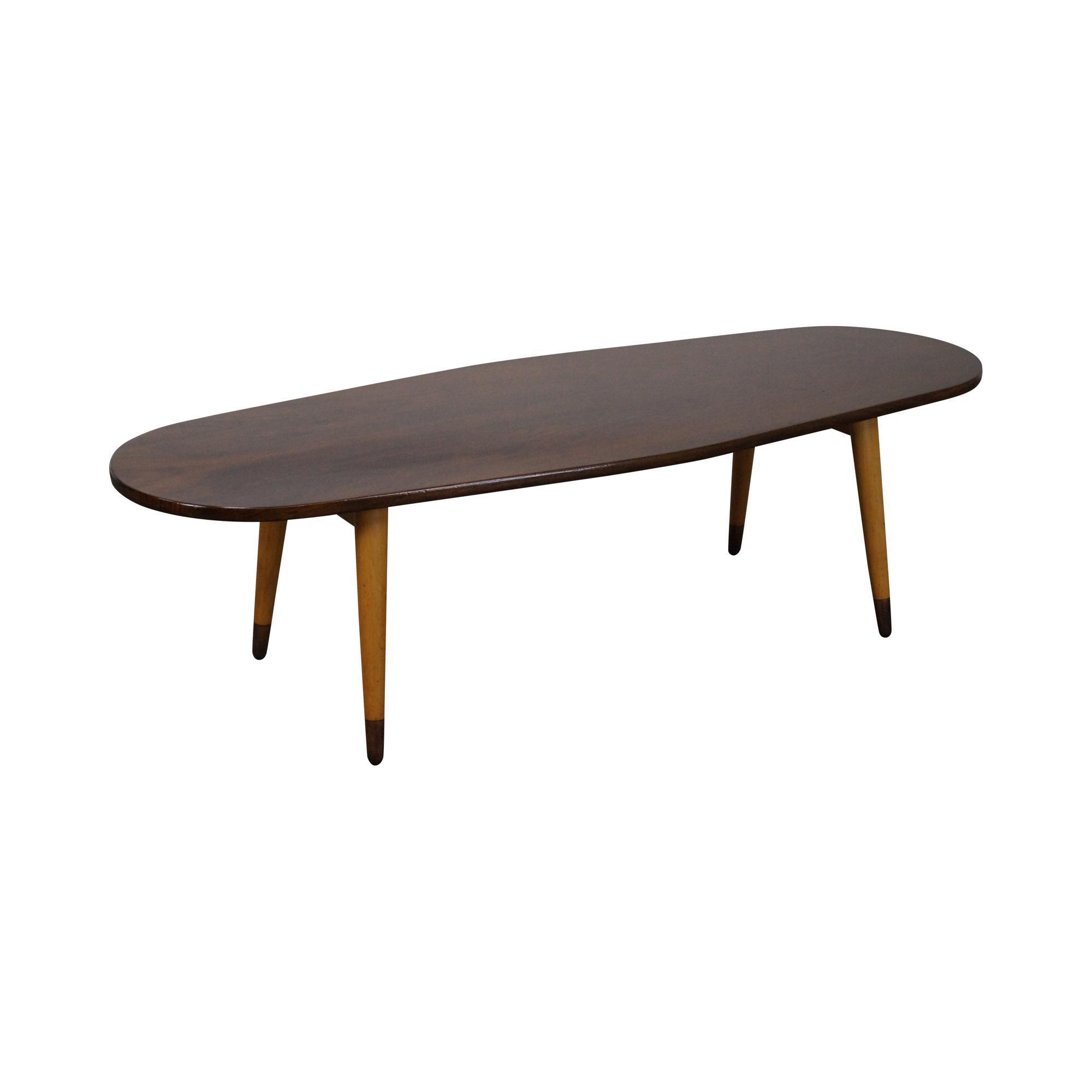 Mid Century Swedish Modern Oval Walnut Coffee Table Chairish