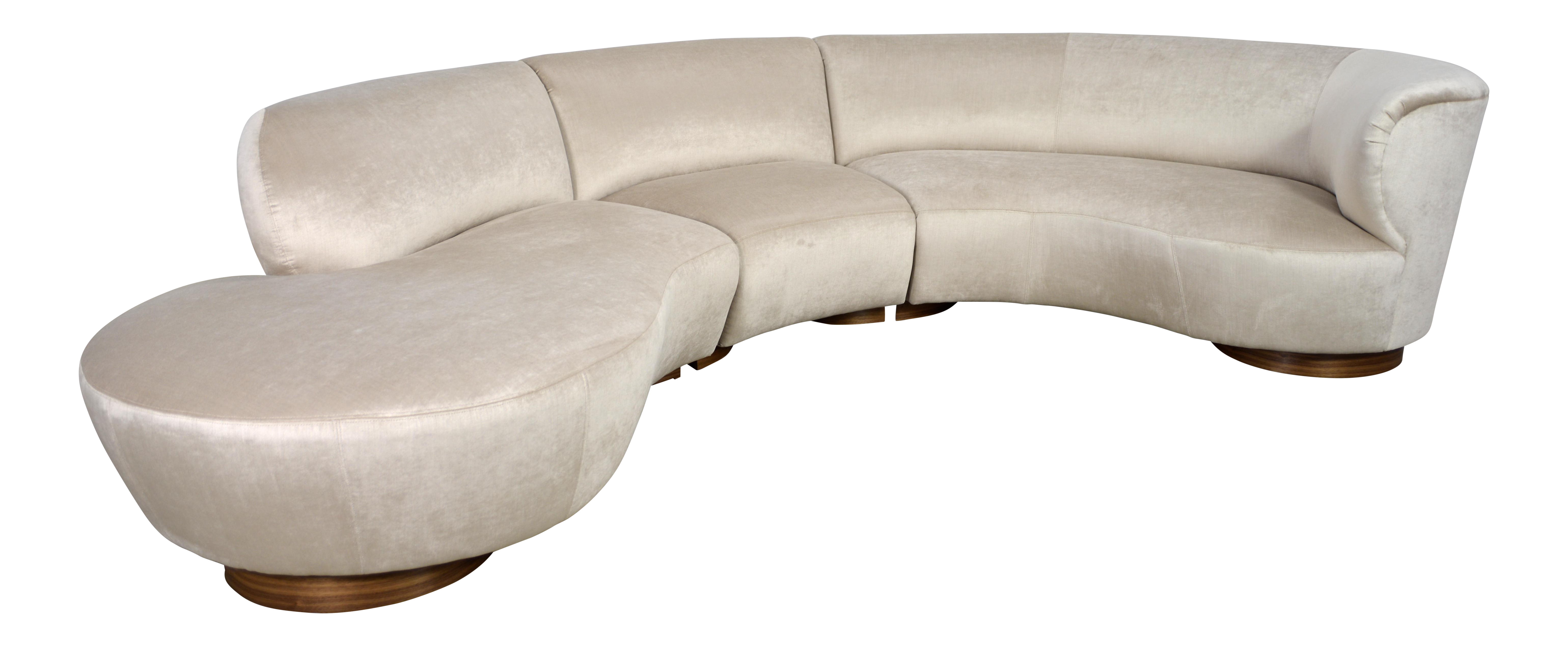 Incredible Vladimir Kagan Sectional Serpentine Sofa