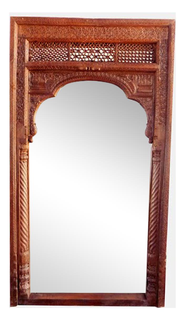 old door full length mirror frame chairish. Black Bedroom Furniture Sets. Home Design Ideas