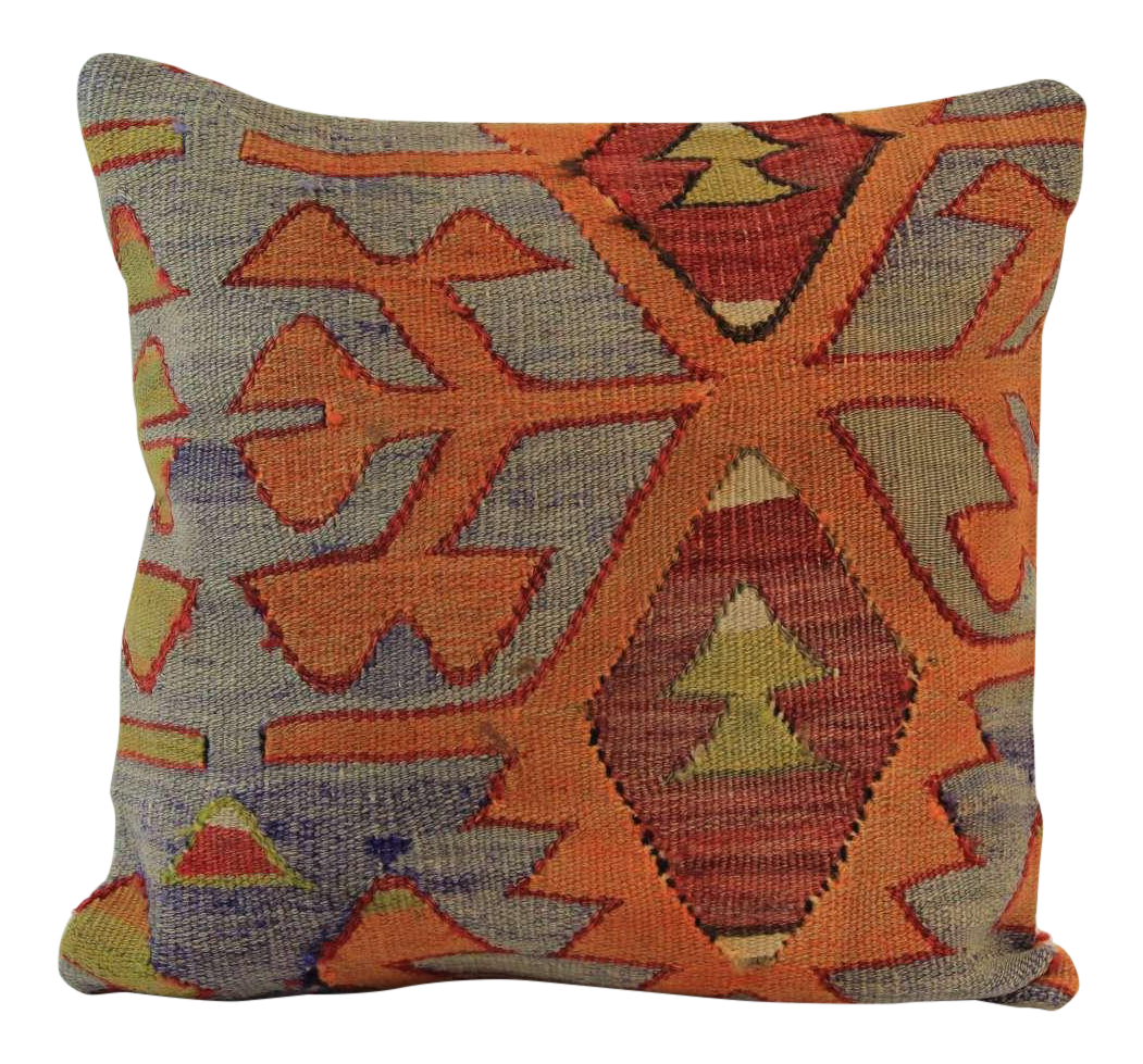 16 Inch Square Turkish Vintage Pillow Cover Chairish