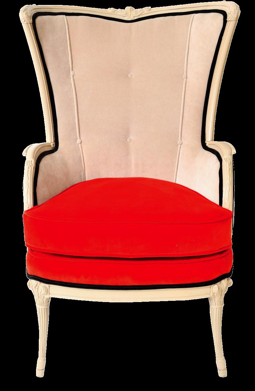 Plaid Burnout Wingback Chair Chairish