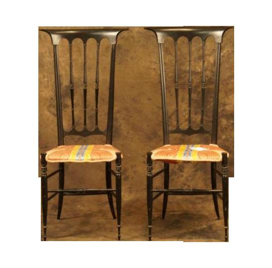 Italian boudoir chairs a pair chairish for Boudoir stoel