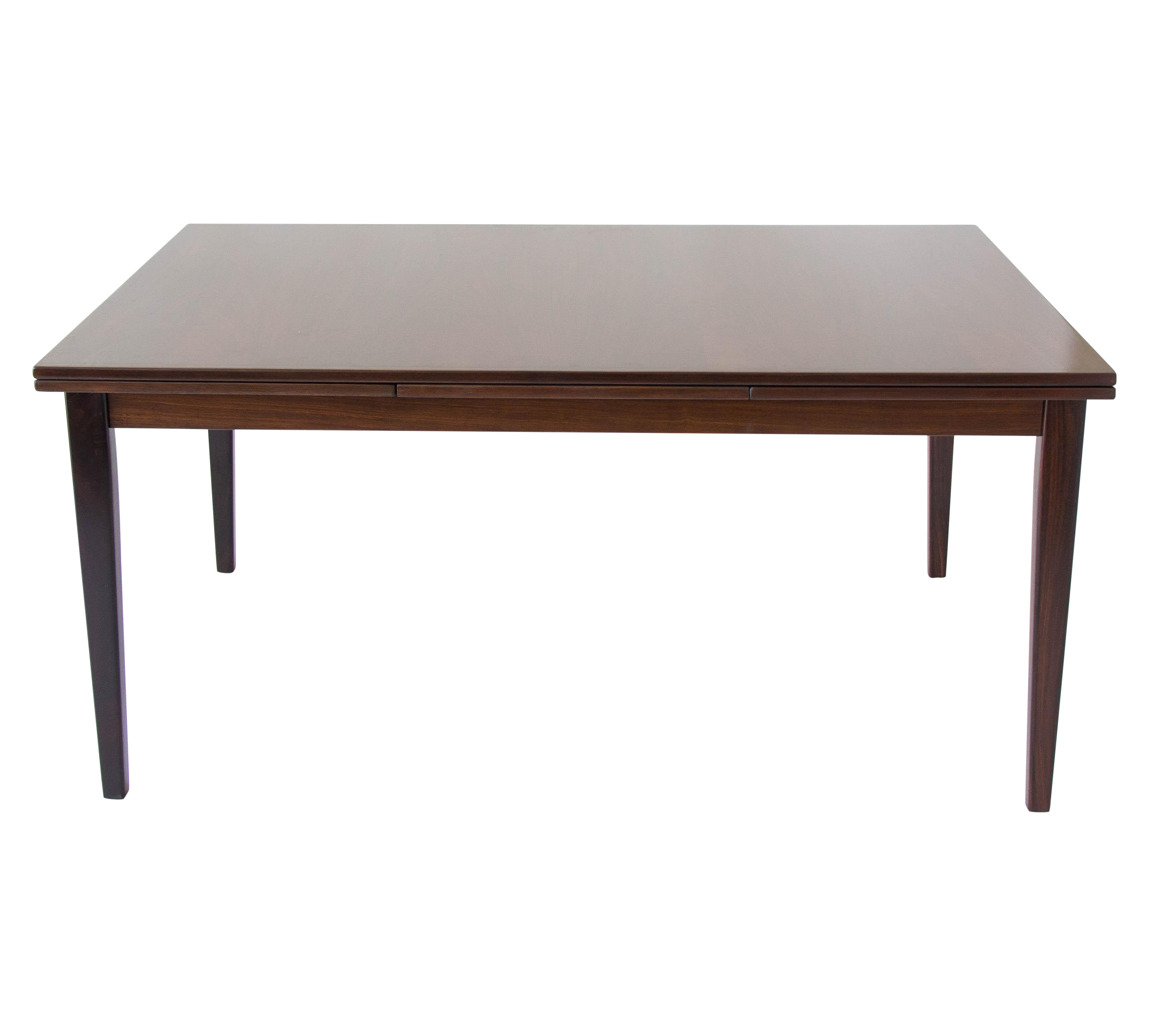 Danish modern rosewood dining table with extension chairish for Cie 85 table 4