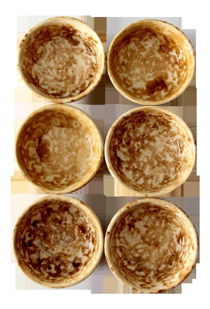 Antique Bennington Pottery Bowls Set Of 6 Chairish