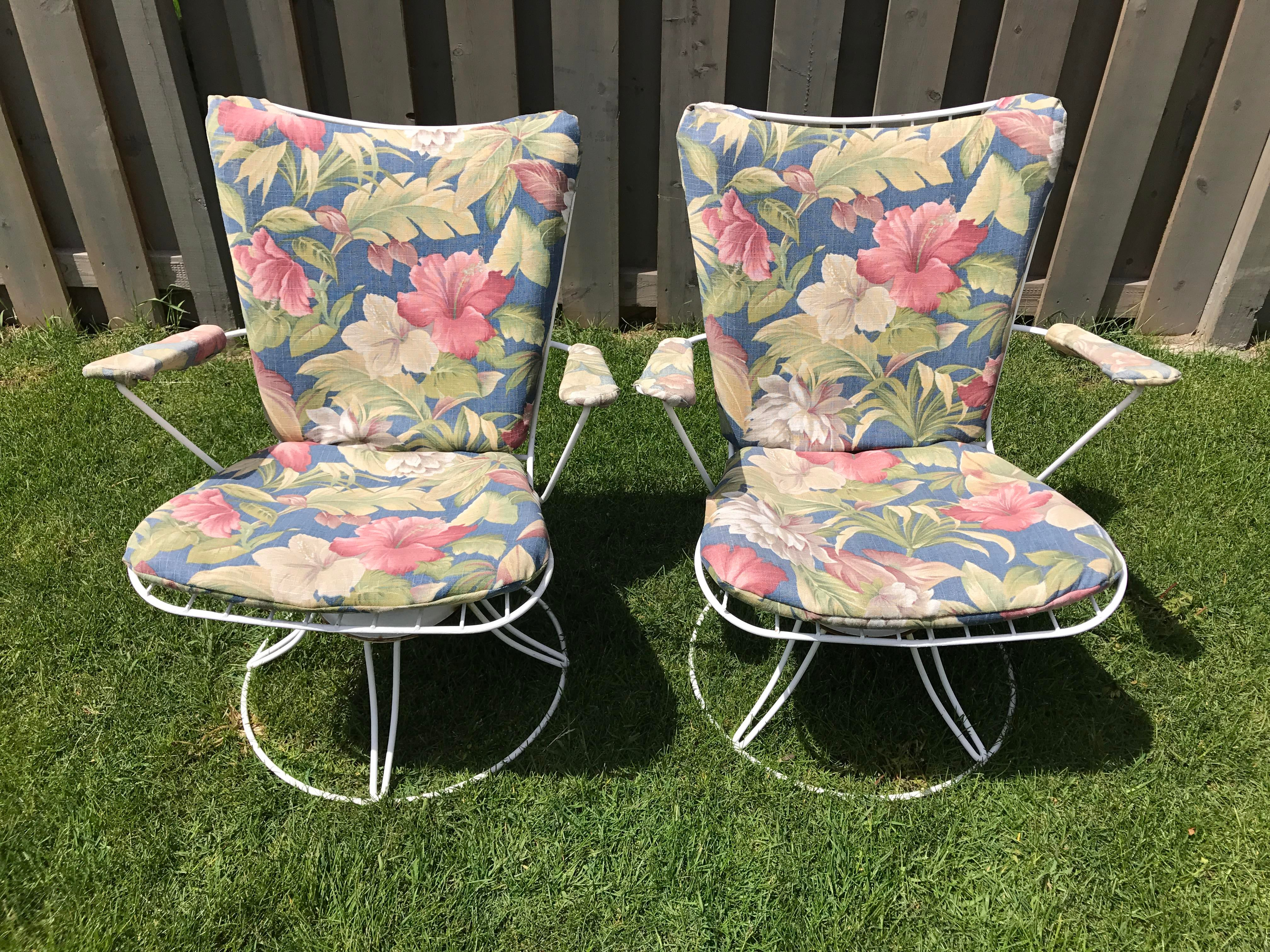 Image Of Homecrest Swivel Rocker Patio Chairs   A Pair