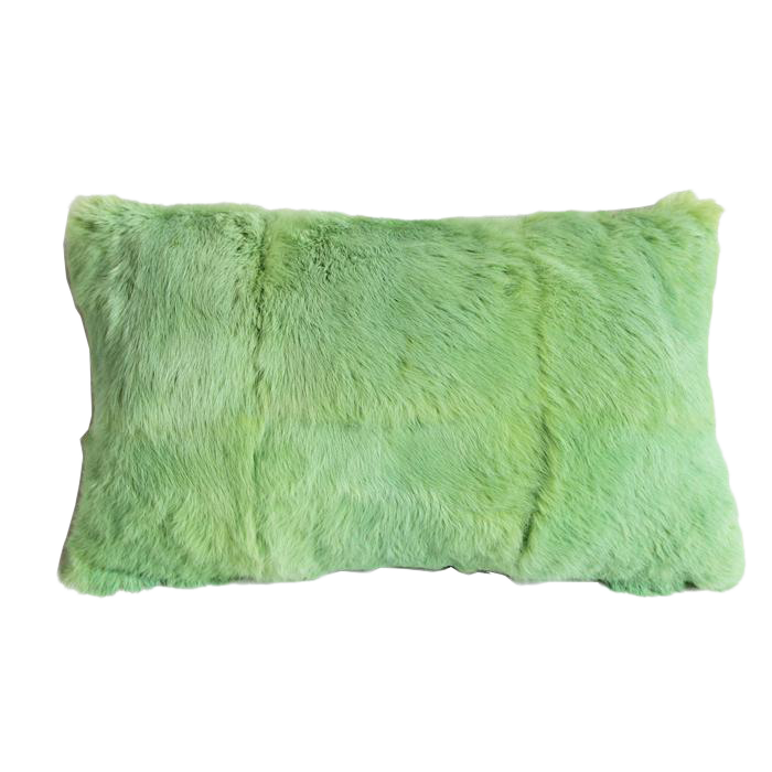 Mint Green Fur Pillow Chairish