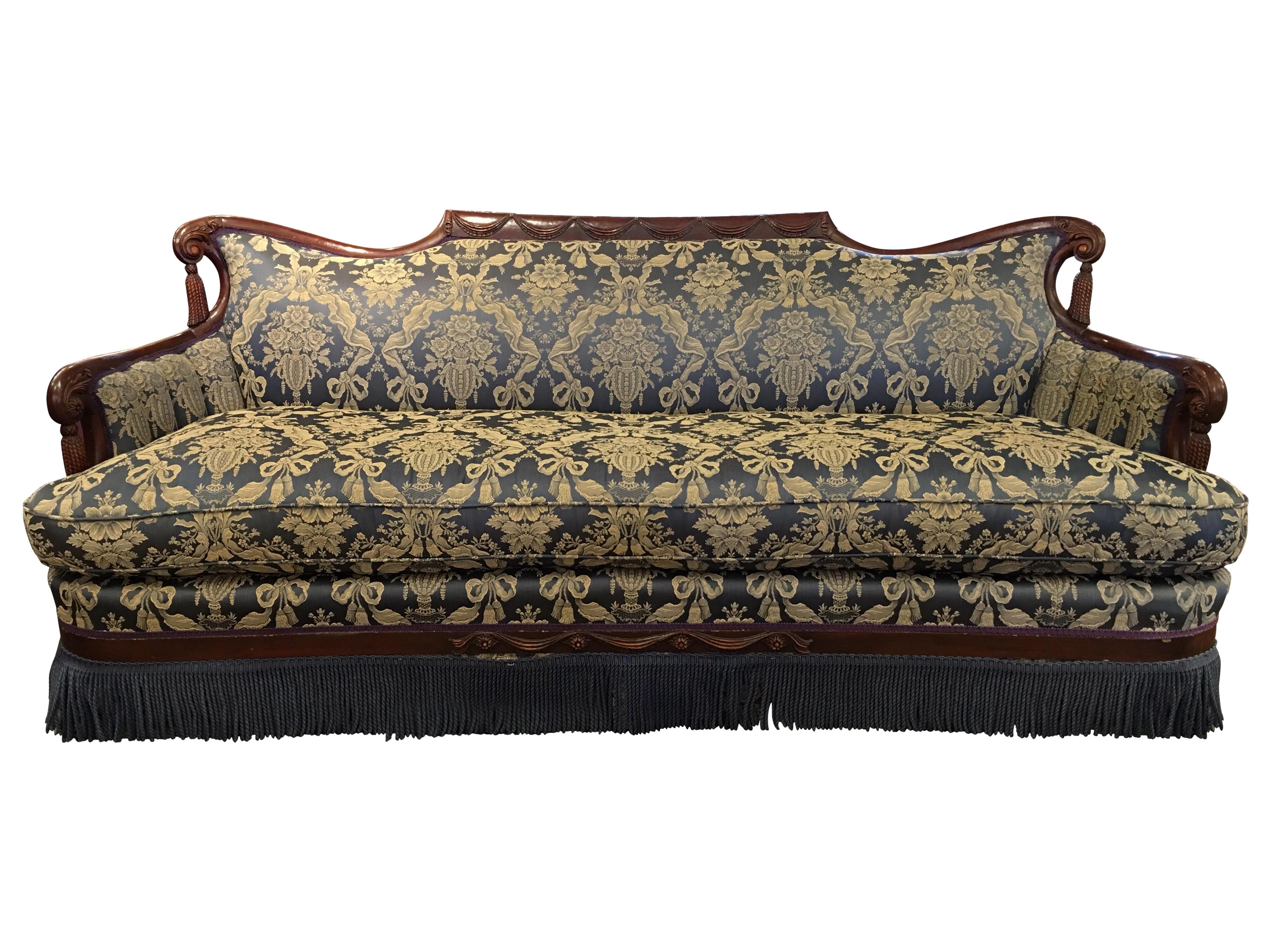 Vintage Victorian Fringe Sofa