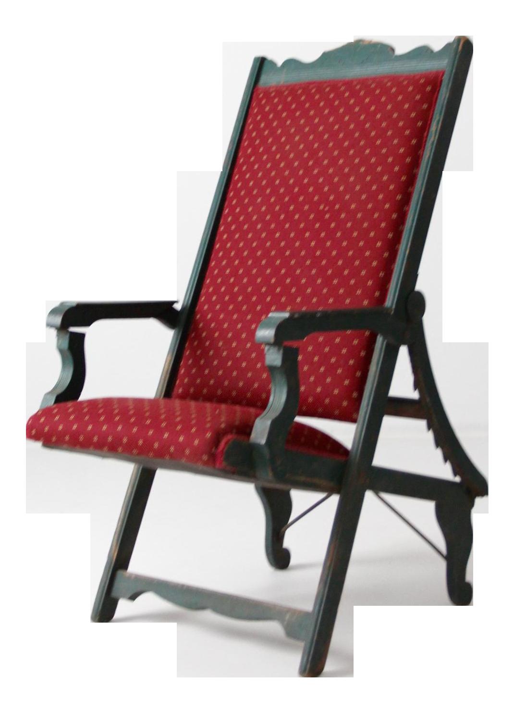 Victorian Maroon Lawn Chair