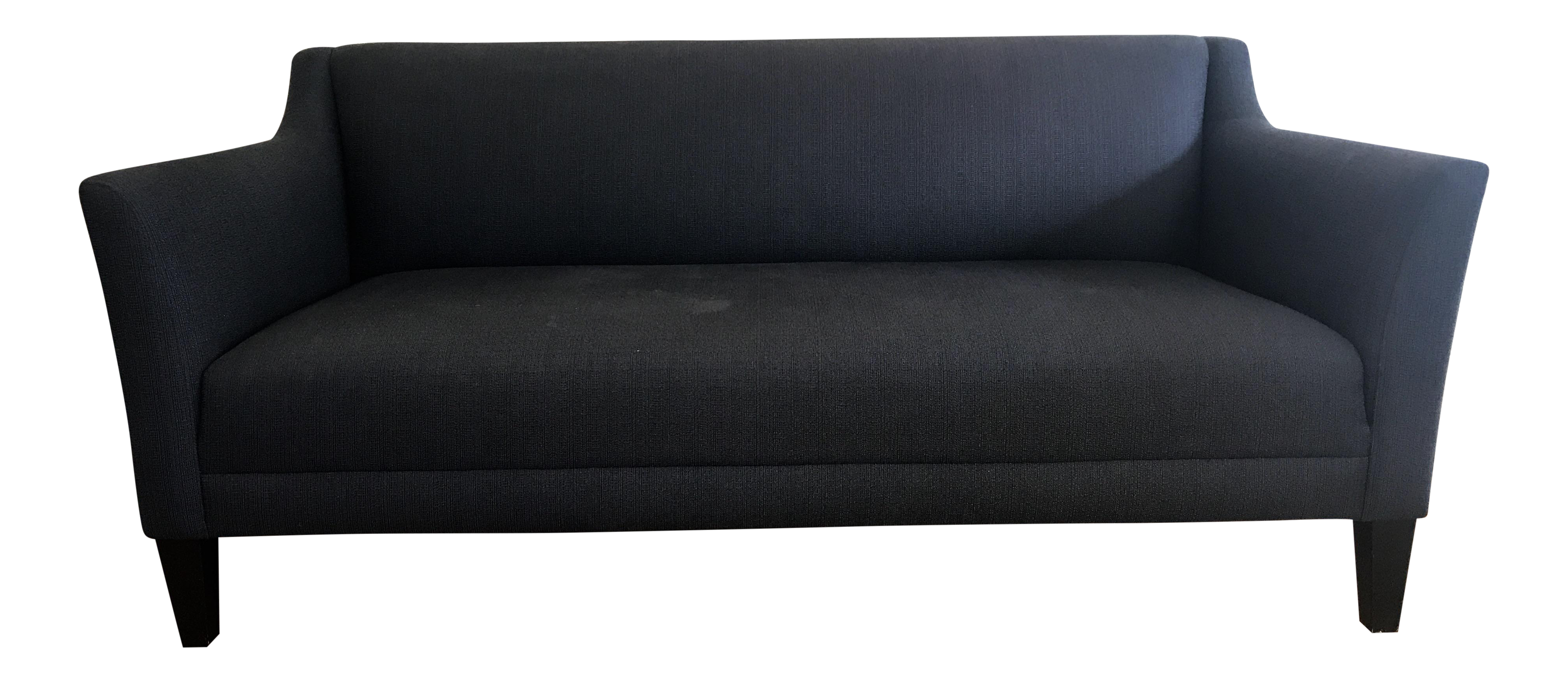 Midnight Blue Margot Sofa From Crate amp Barrel Chairish